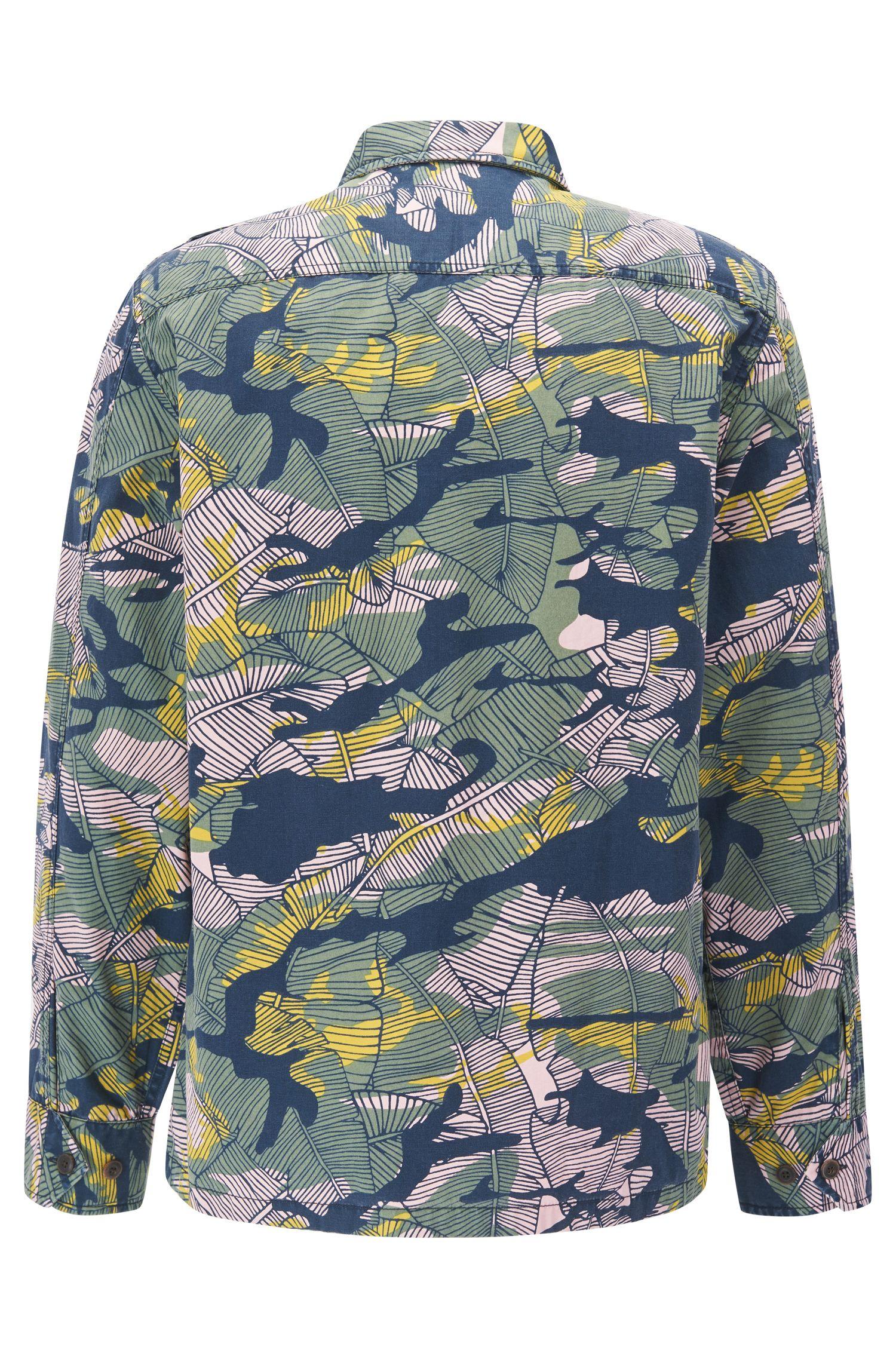 Relaxed-fit katoenen overhemd in een Caribische camouflageprint