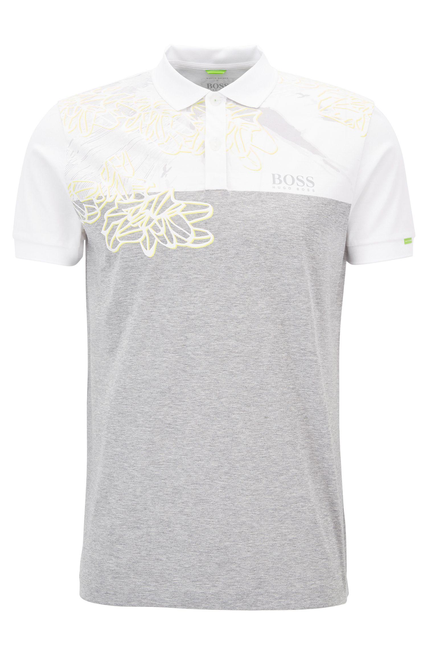 Poloshirt aus reiner Baumwolle mit Colour-Block-Design