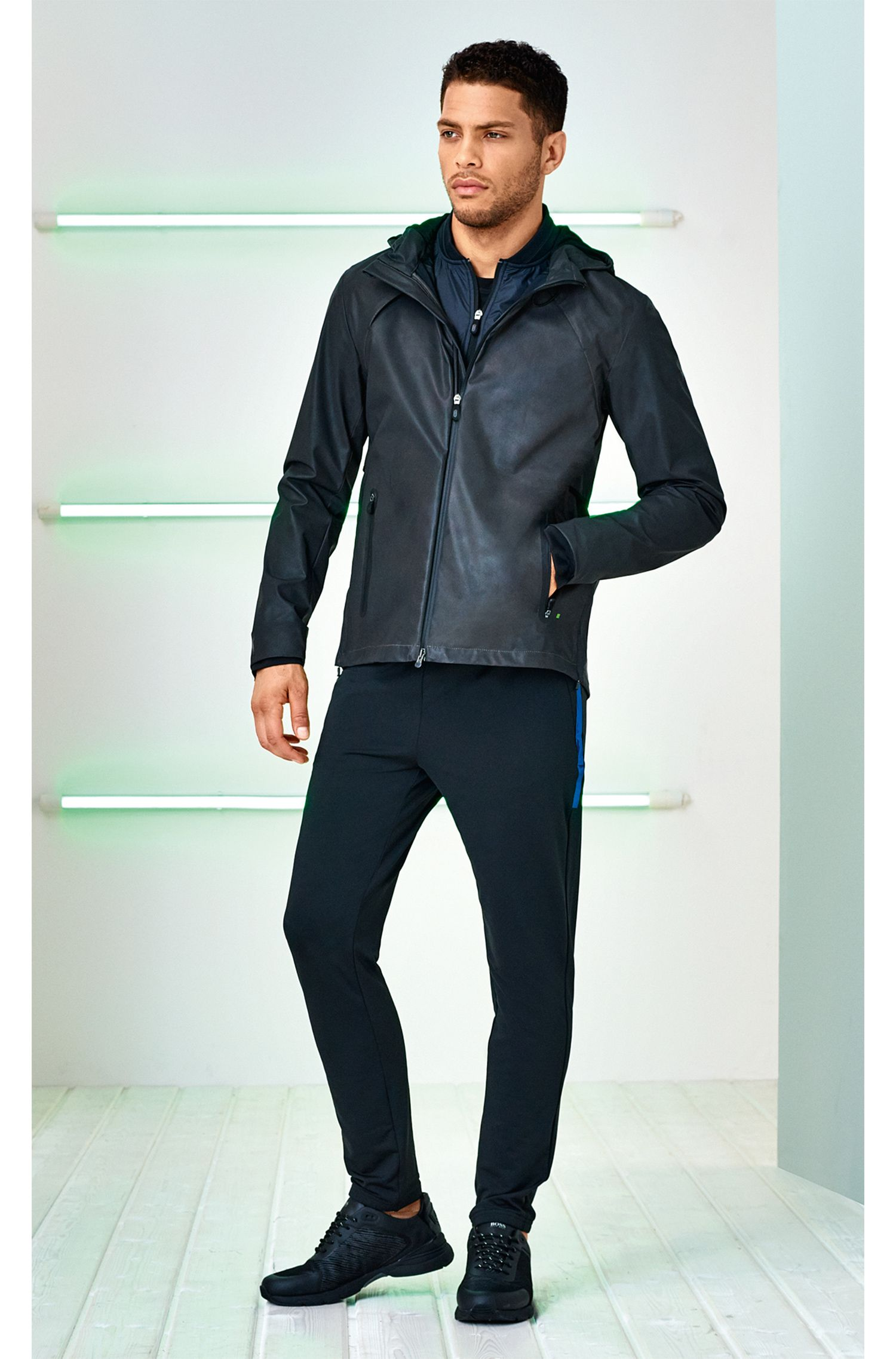 Zip-through jacket in technical fabric with S.Café®