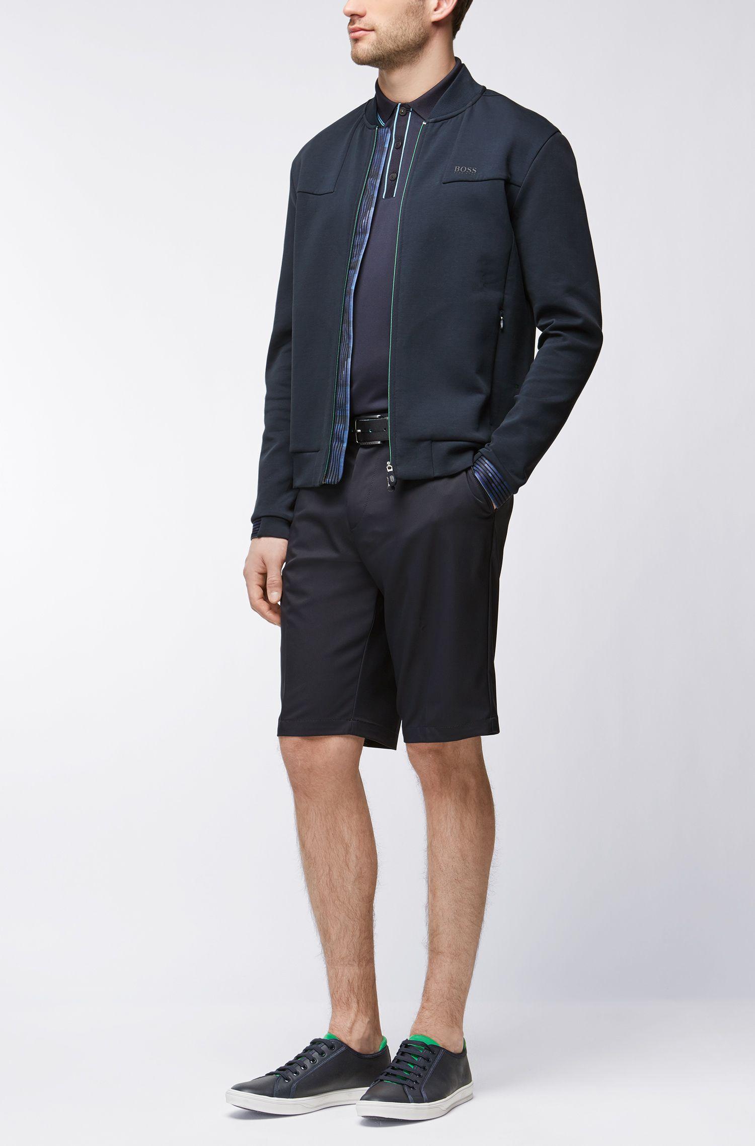 Polo en tissu technique, avec dos en mesh