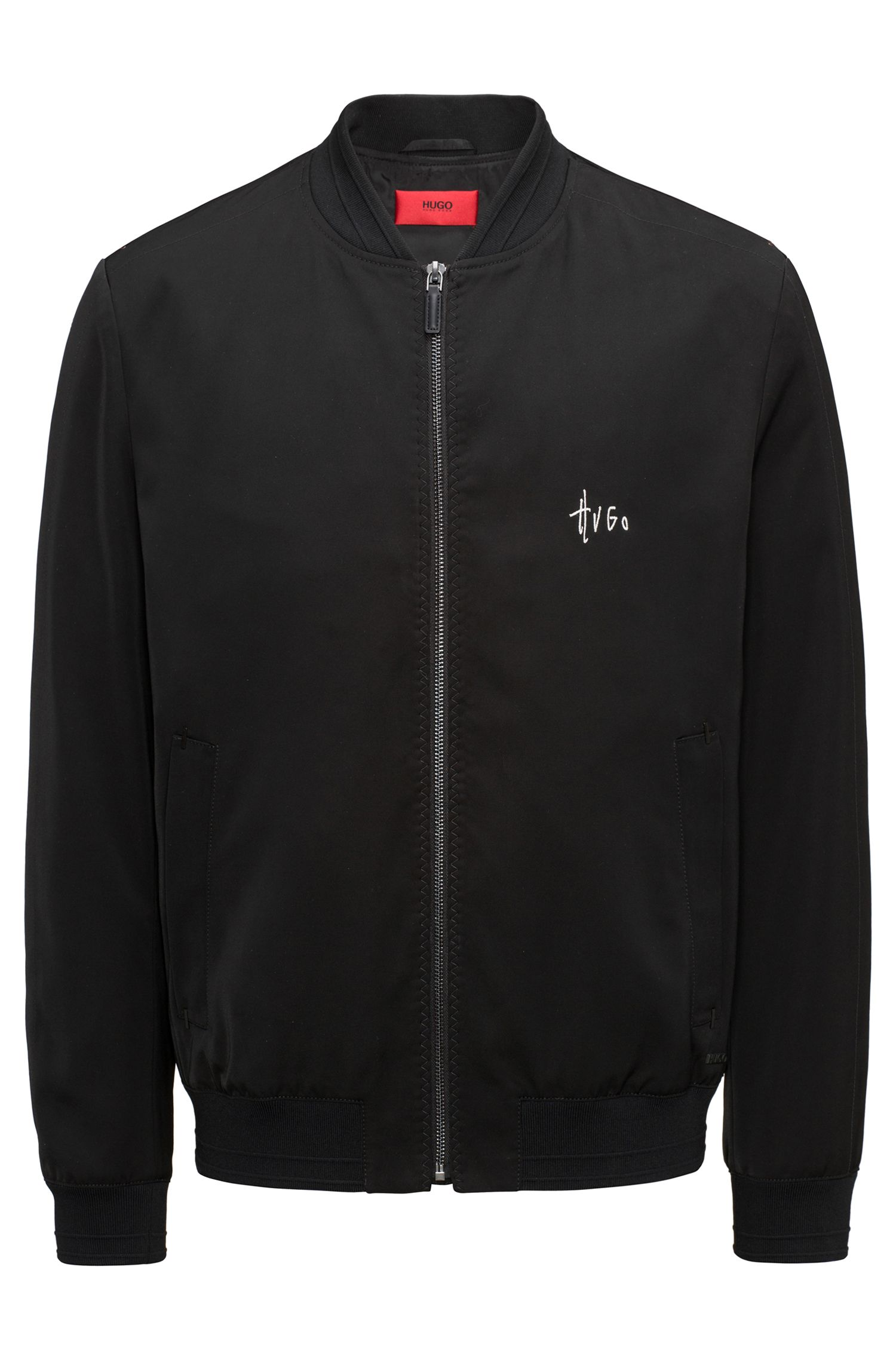 Slim-fit bomber jacket in a technical fabric with Teflon™ finish