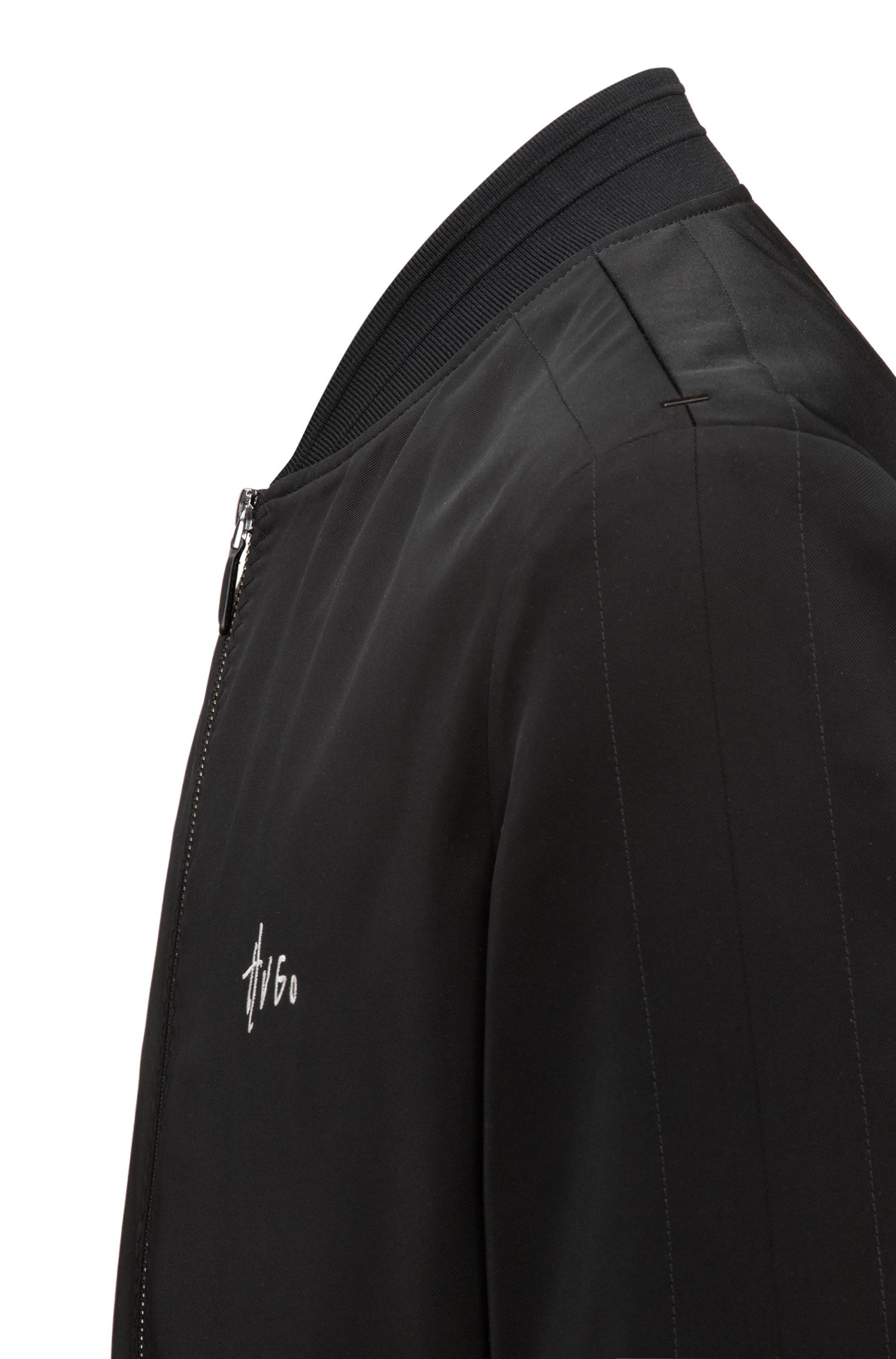 Slim-Fit Bomberjacke aus Material-Mix mit Teflon™-Finish