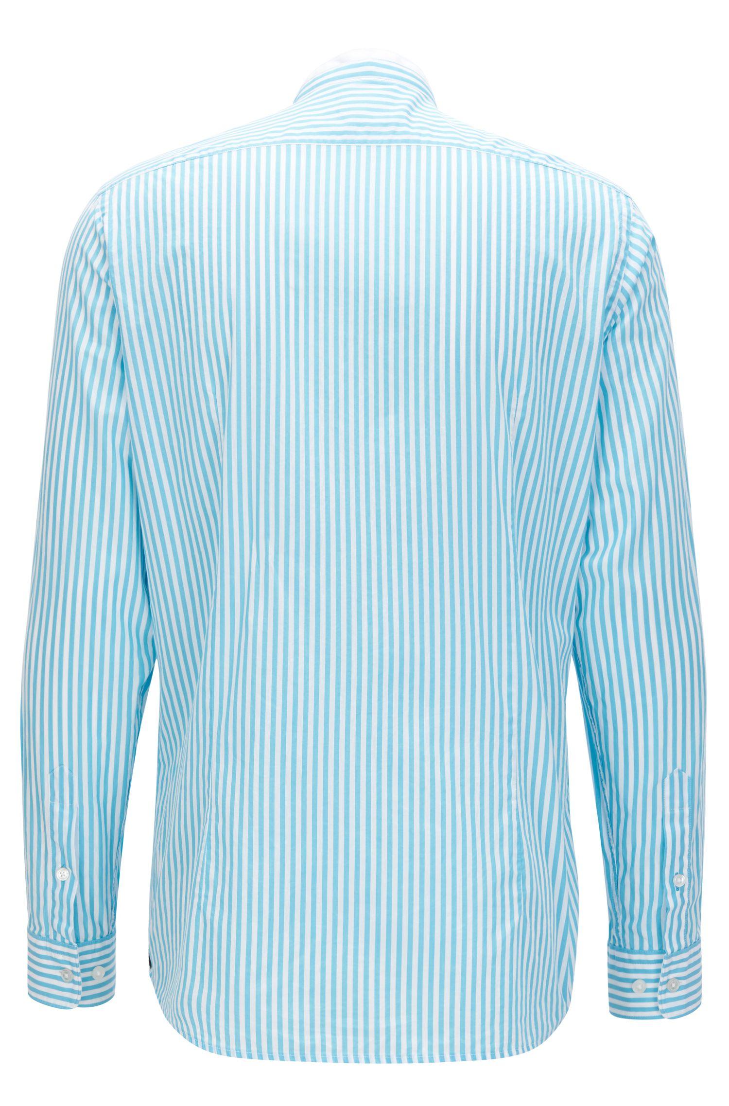 Regular-fit overhemd van gemerceriseerd katoenen popeline
