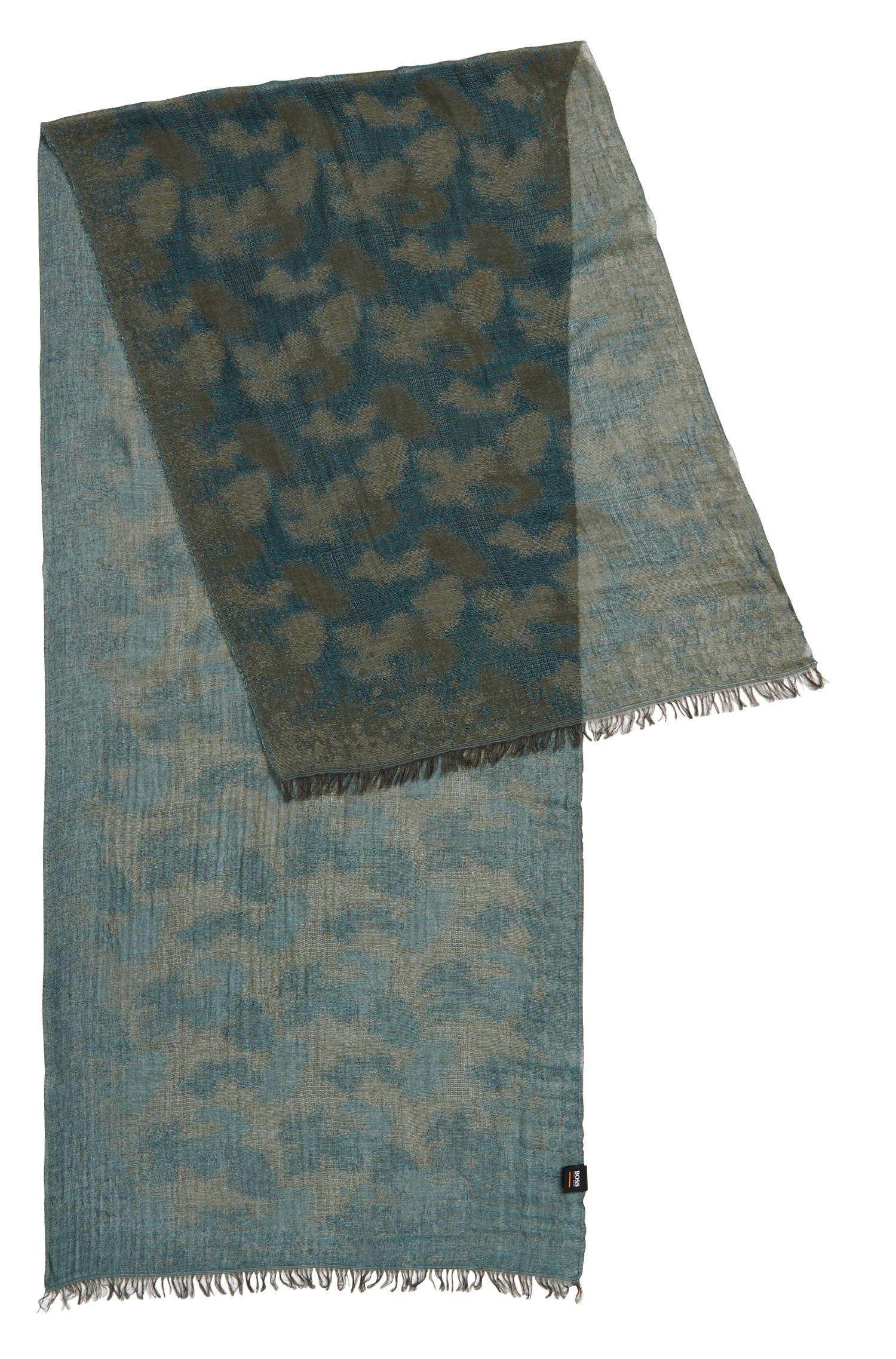 Gemusterter Schal aus leichtem Baumwoll-Mix mit Modal