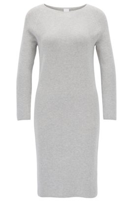 Original Sale Online Cheap Release Dates Slim-fit dress in a knitted stretch-cotton blend BOSS Cheap Sale Outlet Store iUmnhhZ