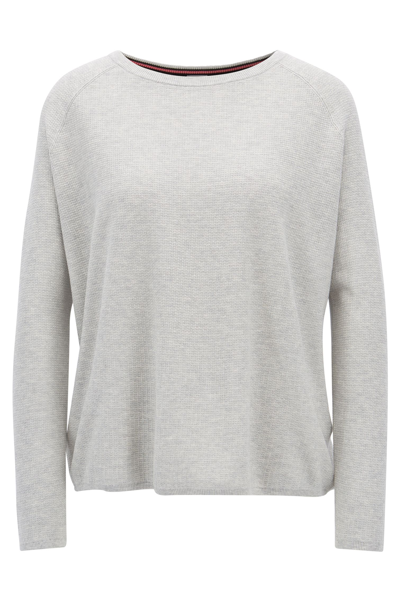 Relaxed-fit sweater in a cotton blend