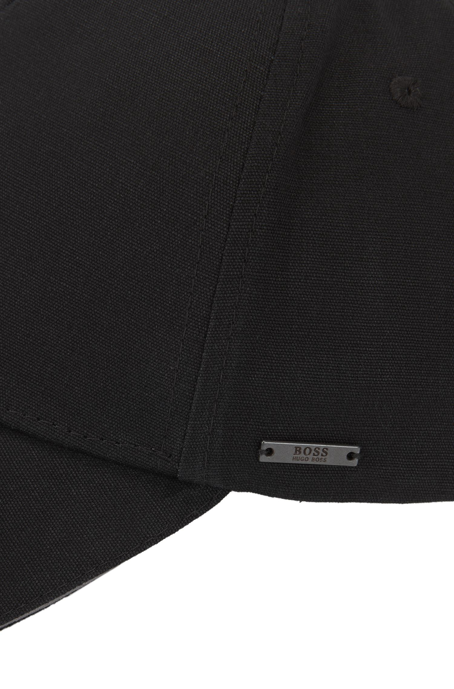 Cotton-canvas cap with contrast trim