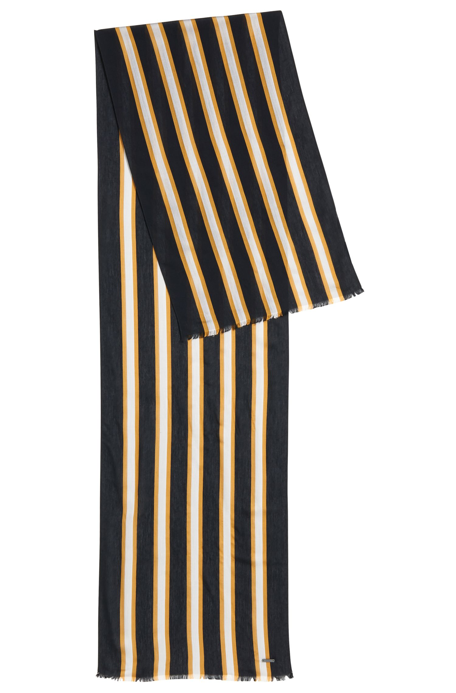 Striped scarf in lightweight fabric
