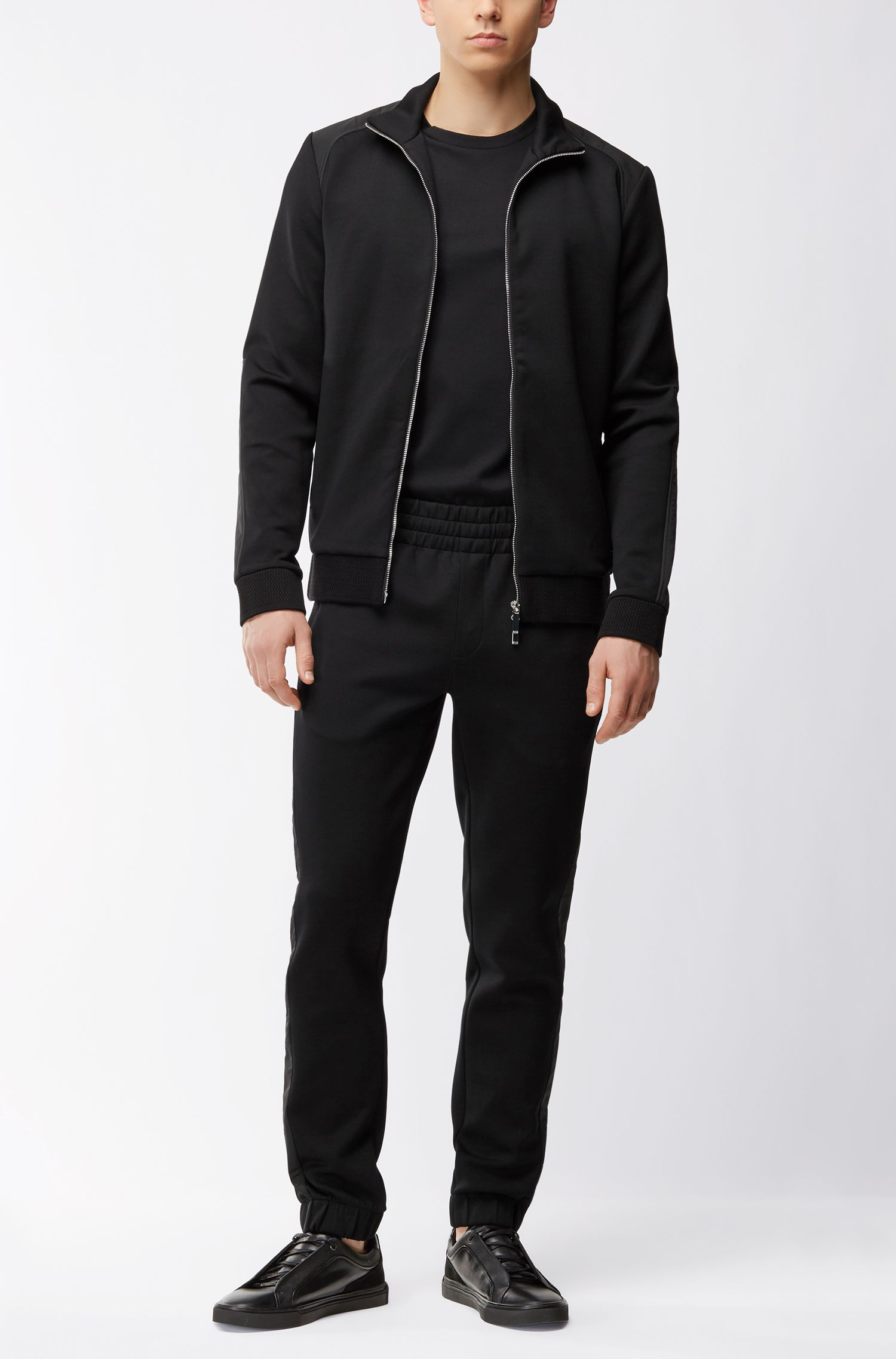 Mercedes-Benz cotton-blend zip-through sweater
