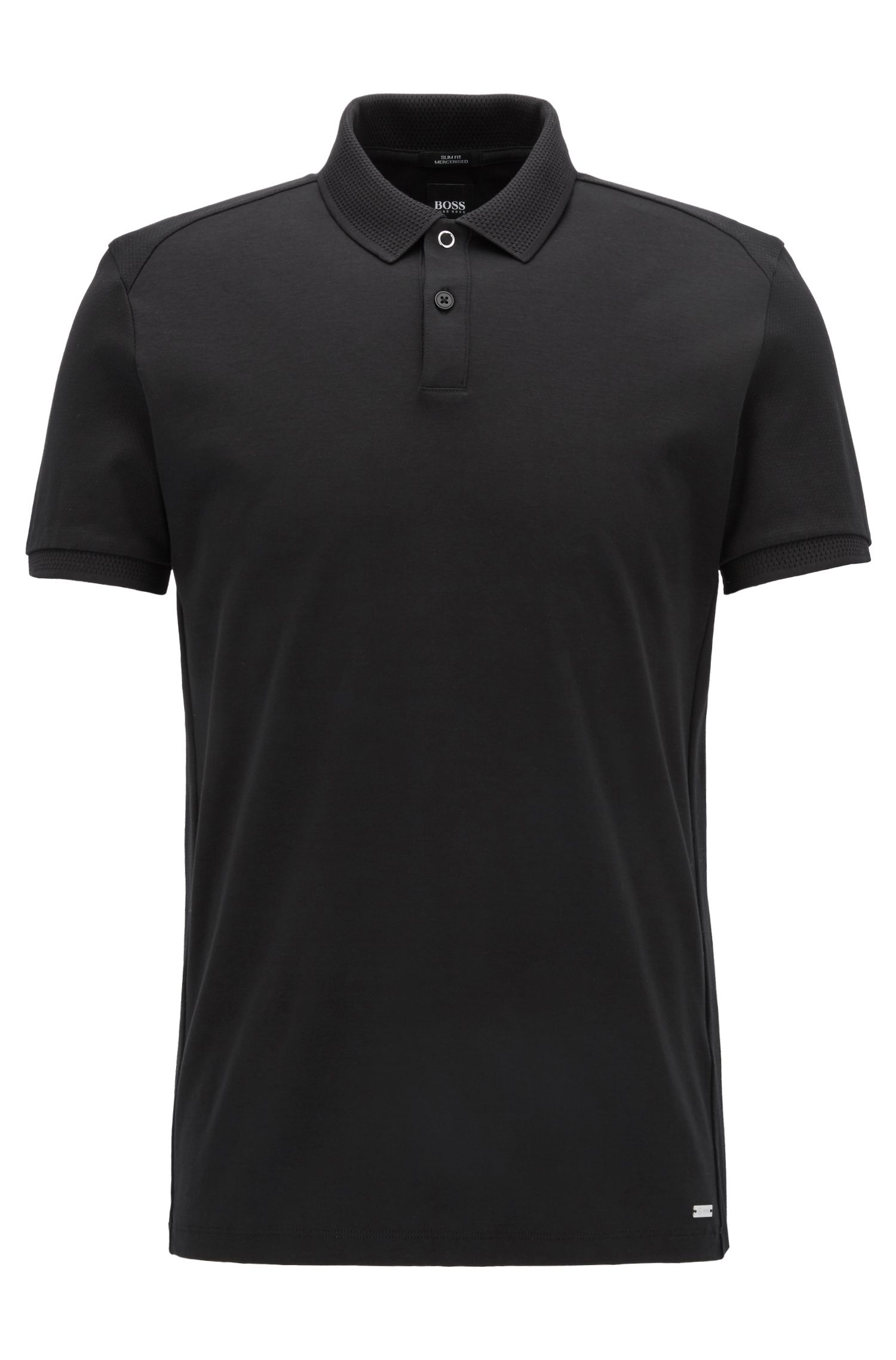 Mercedes-Benz Collection slim-fit polo shirt in structured cotton