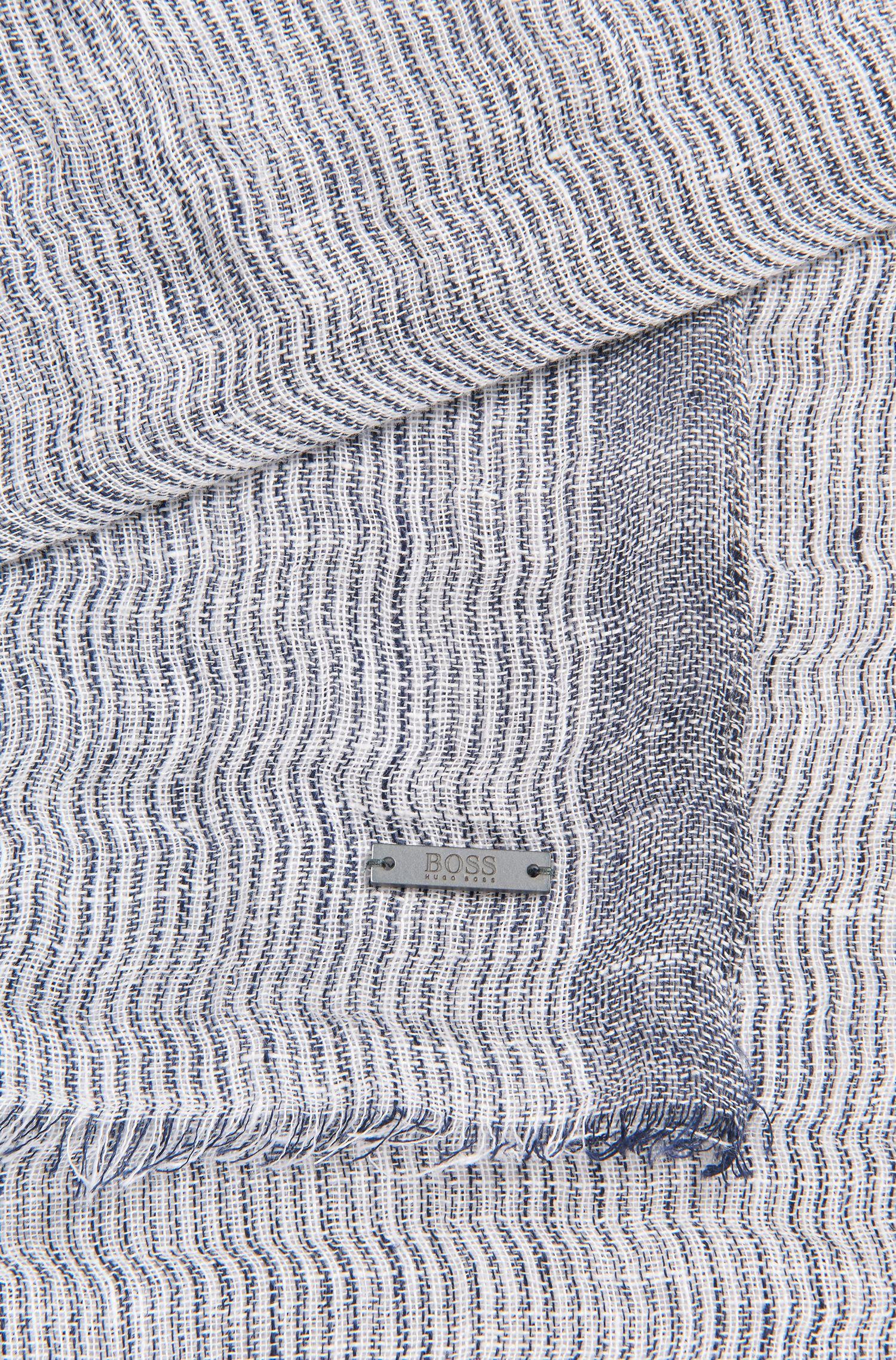 Bufanda de lino con diseño a rayas irregulares