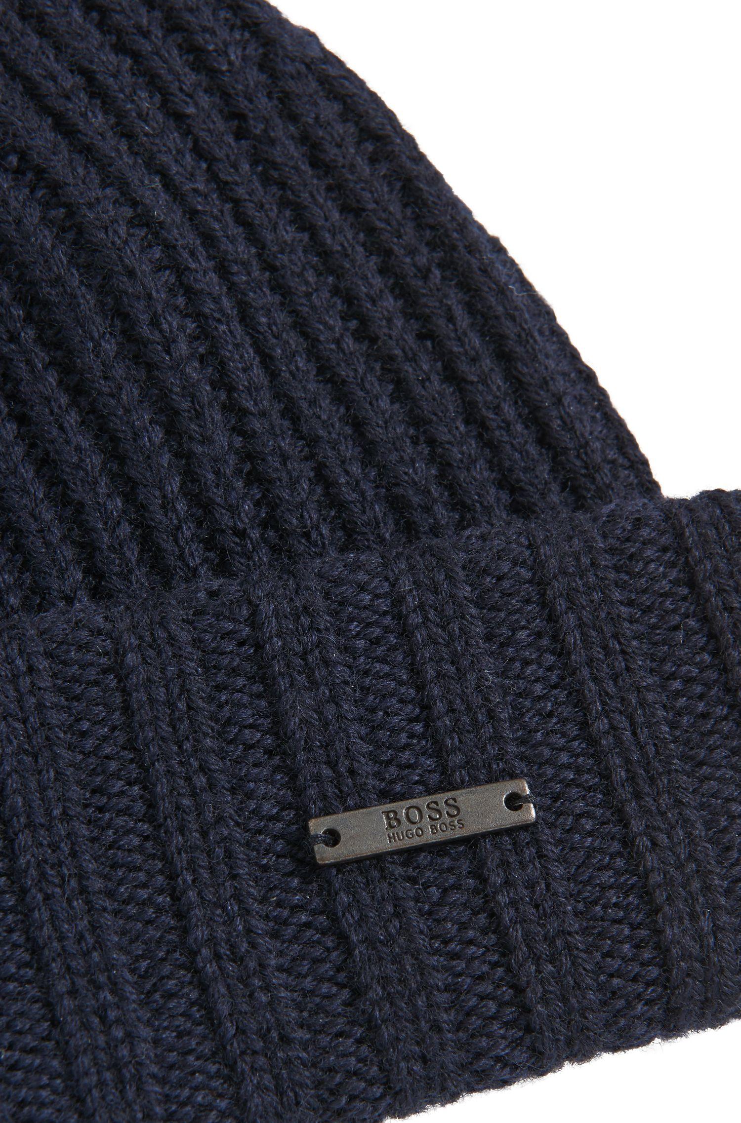 Bonnet côtelé en laine vierge