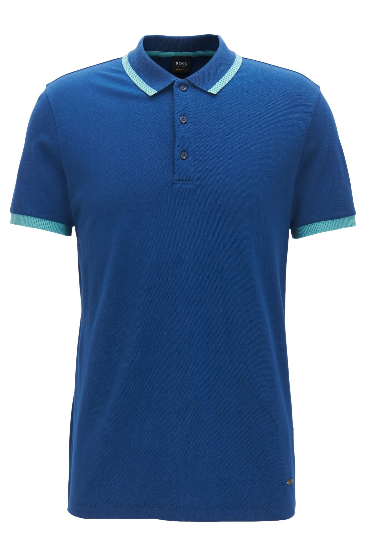 Relaxed-fit polo shirt in stretch cotton piqué