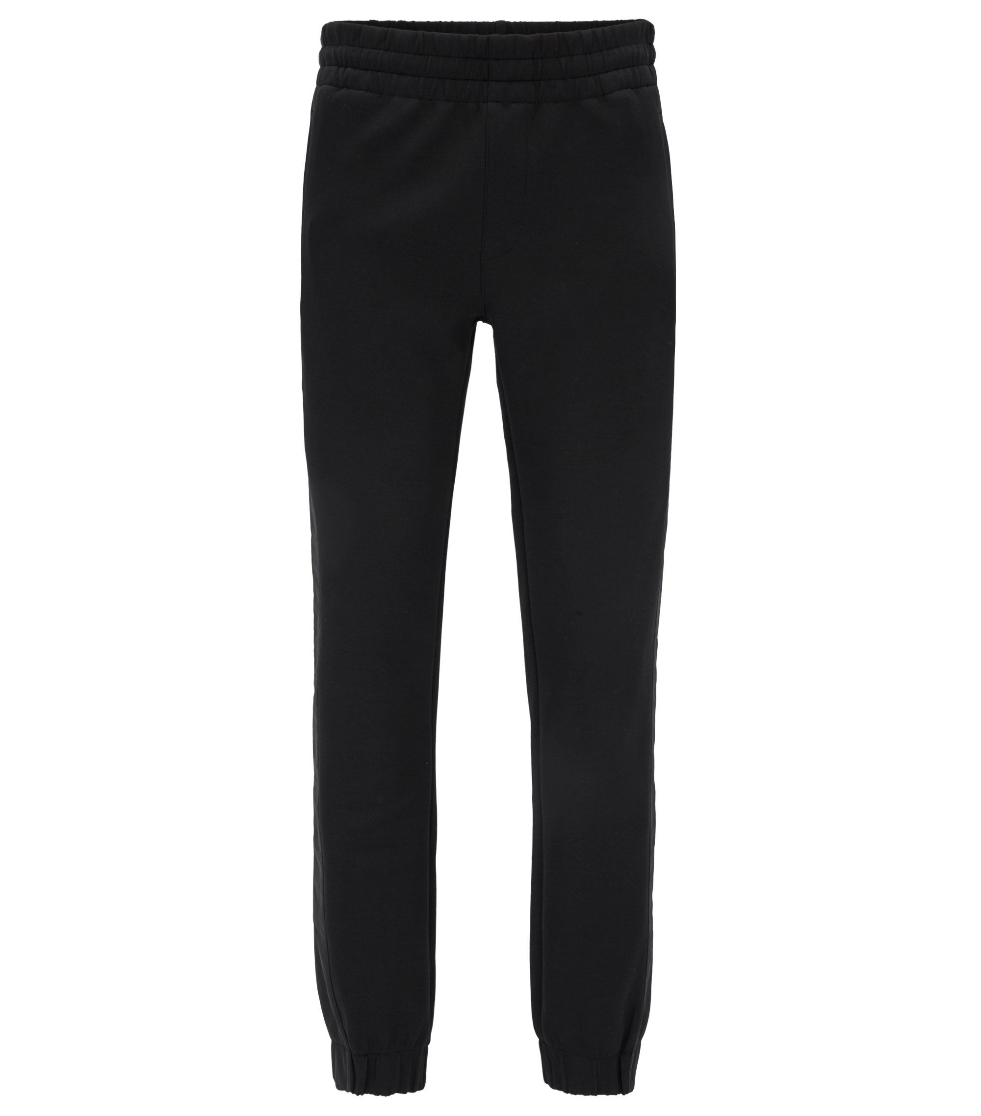 Mercedes-Benz cuffed jersey trousers in slim fit , Black