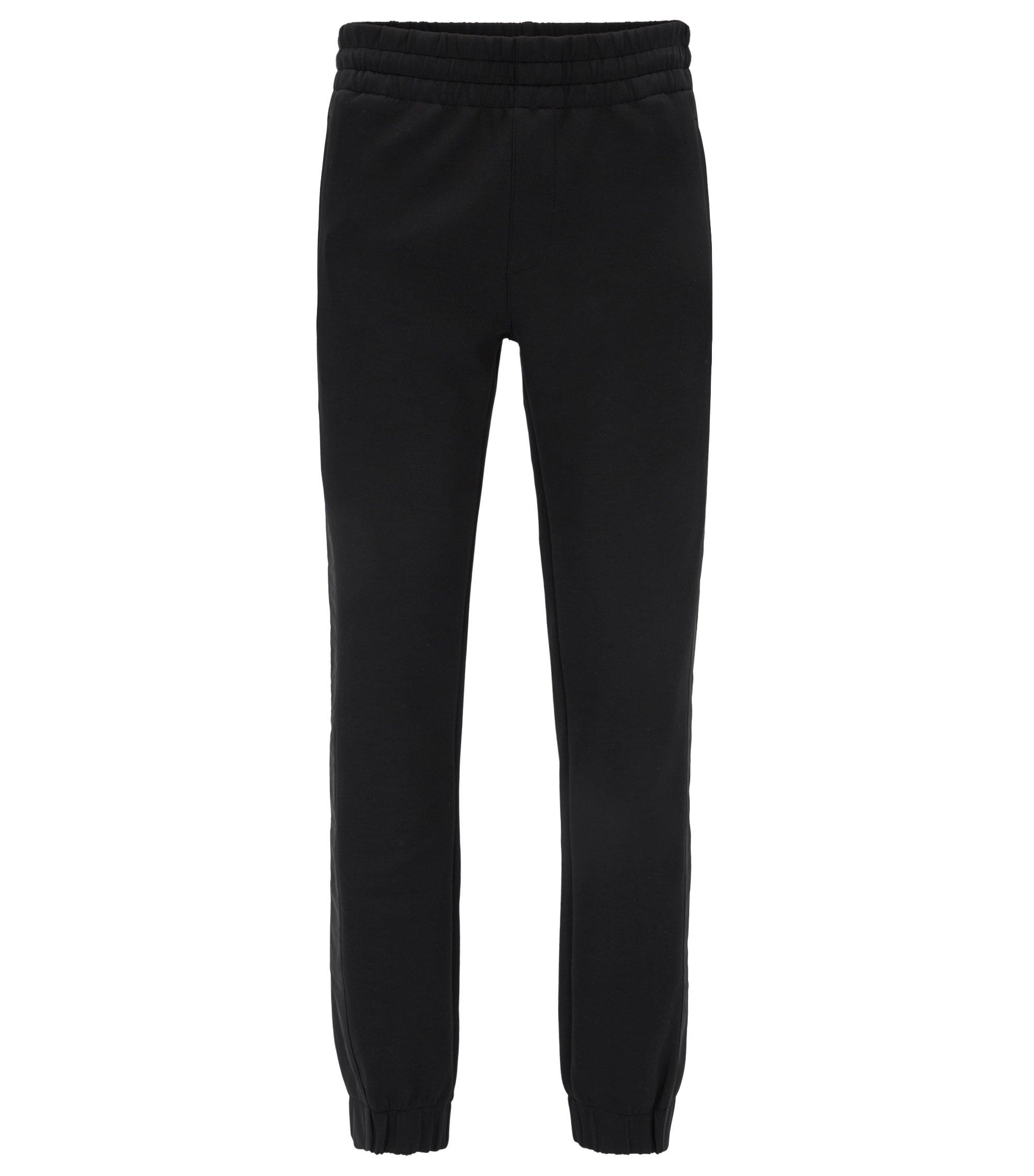 Pantalon Slim Fit en jersey resserré au bas des jambes Mercedes-Benz , Noir