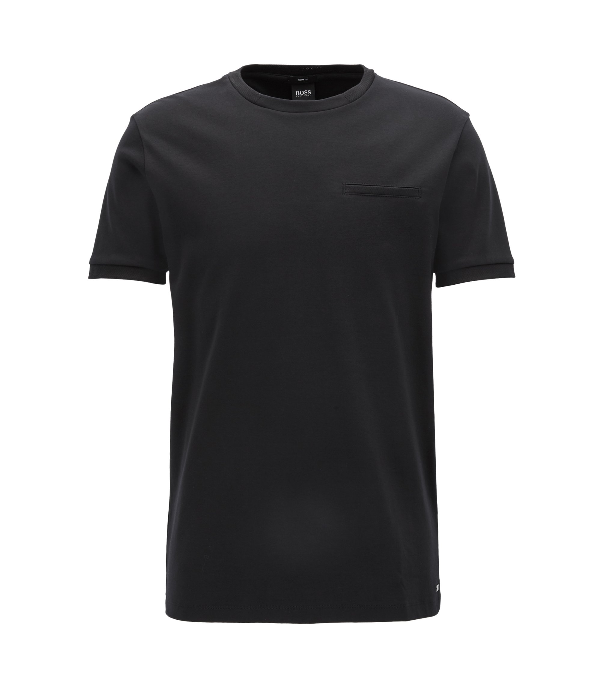 T-shirt Slim Fit Mercedes-Benz en coton interlock, Noir