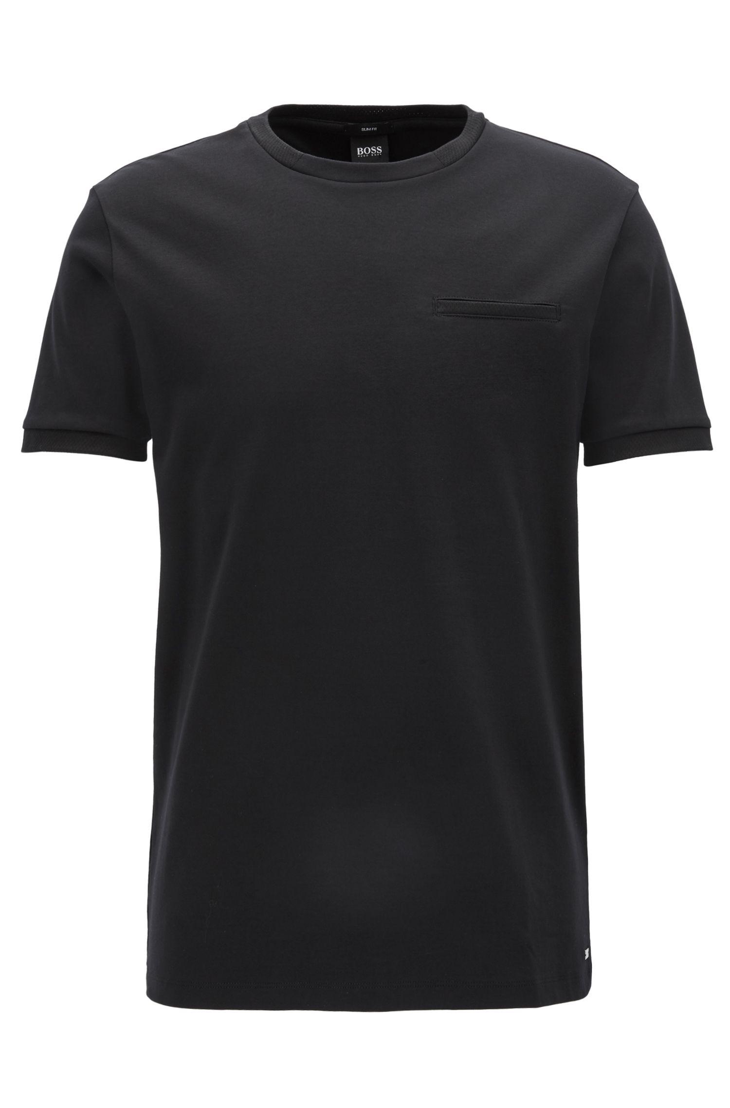 Slim-fit Mercedes-Benz-T-shirt van dubbelgebreide katoen