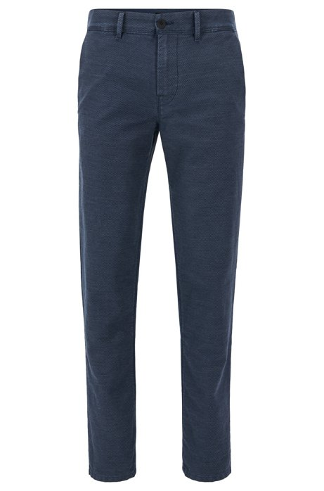 Tapered-fit trousers in midweight twill BOSS KaBfmc