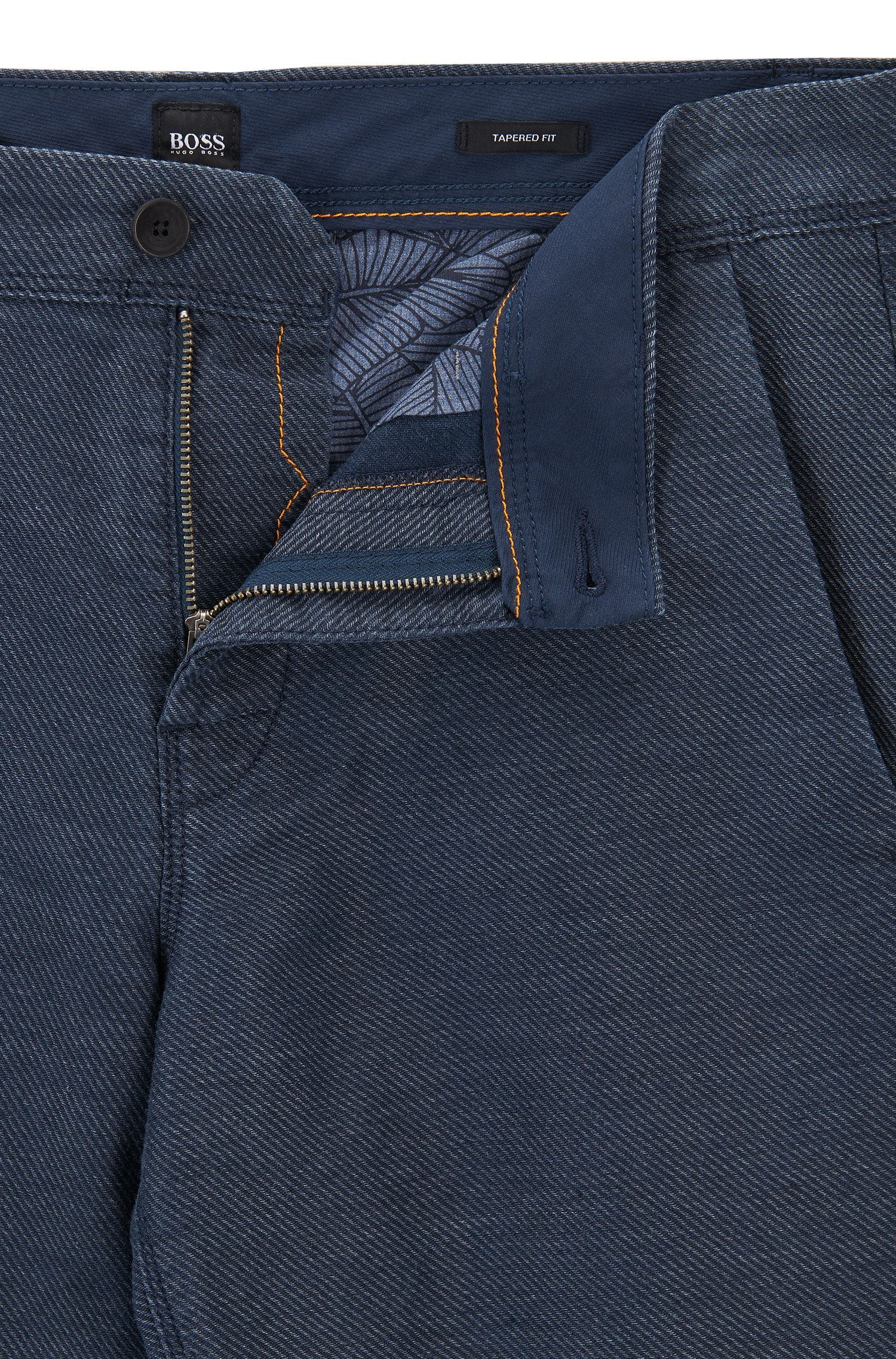 Tapered-fit trousers in midweight twill