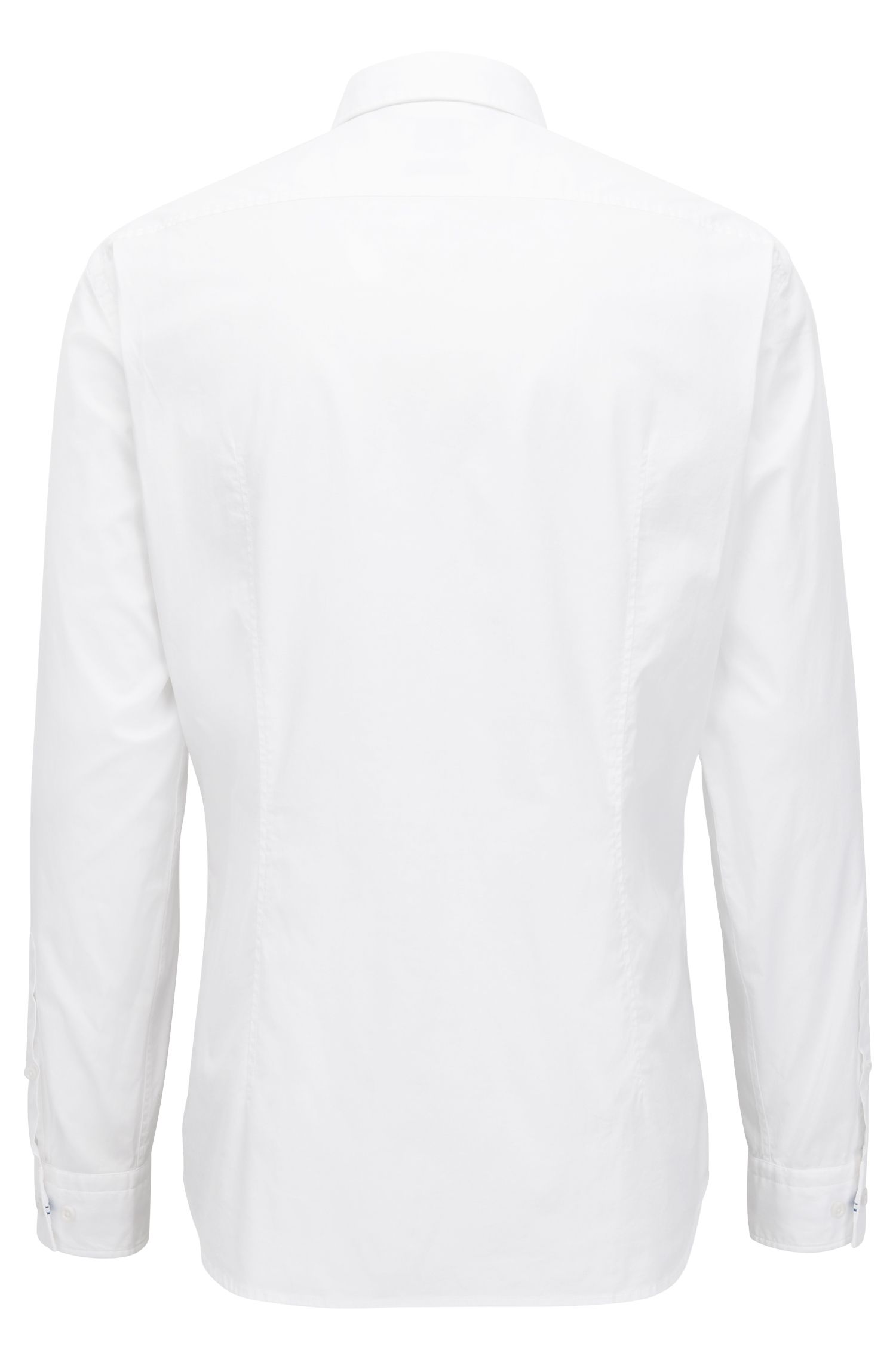 Regular-fit shirt in cotton with moisture management