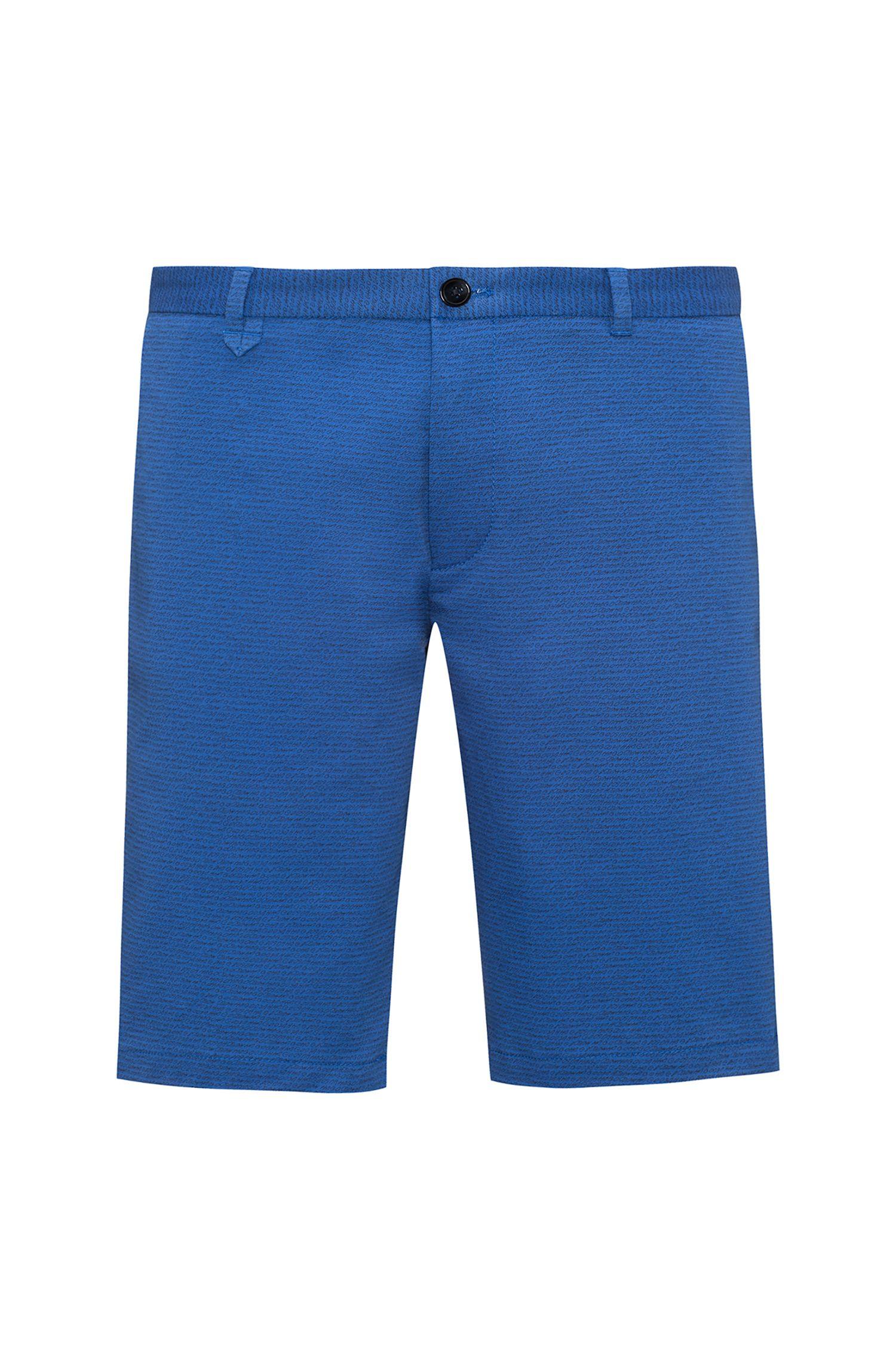 Shorts aus Stretch-Baumwolle mit schmalem Bein und Logo-Print