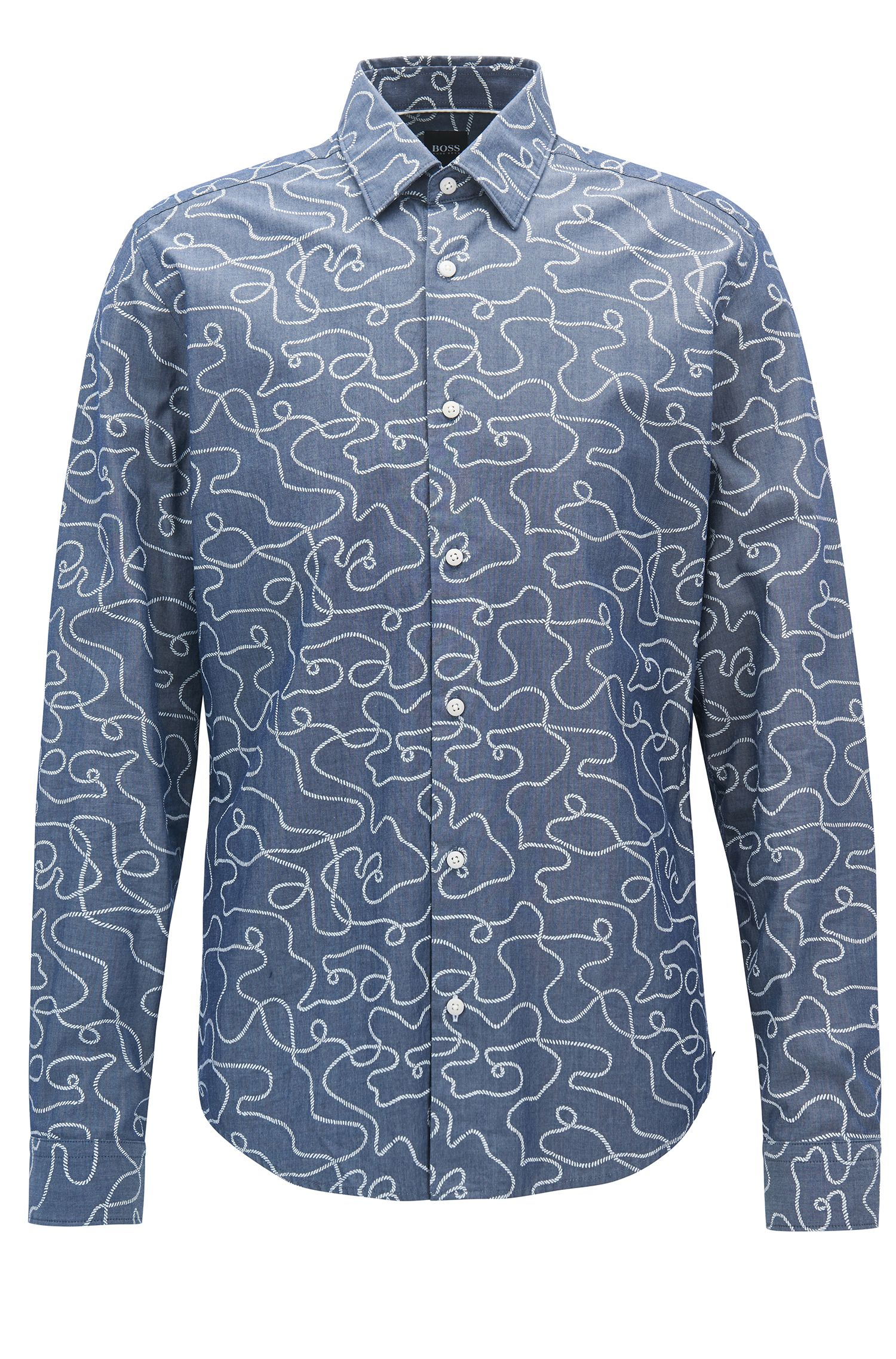 Printed-cotton shirt in a regular fit