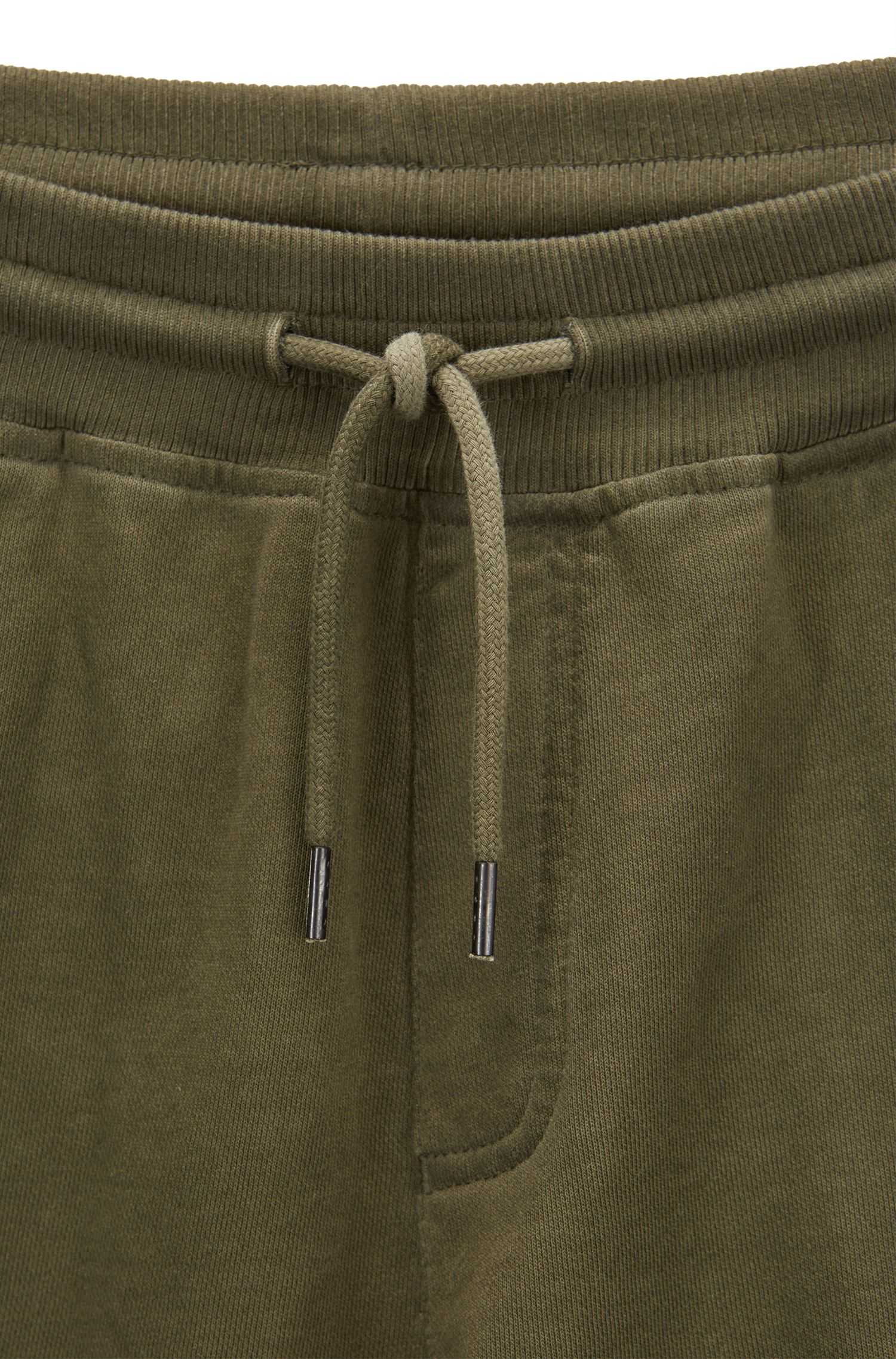Regular-fit shorts in garment-dyed French terry
