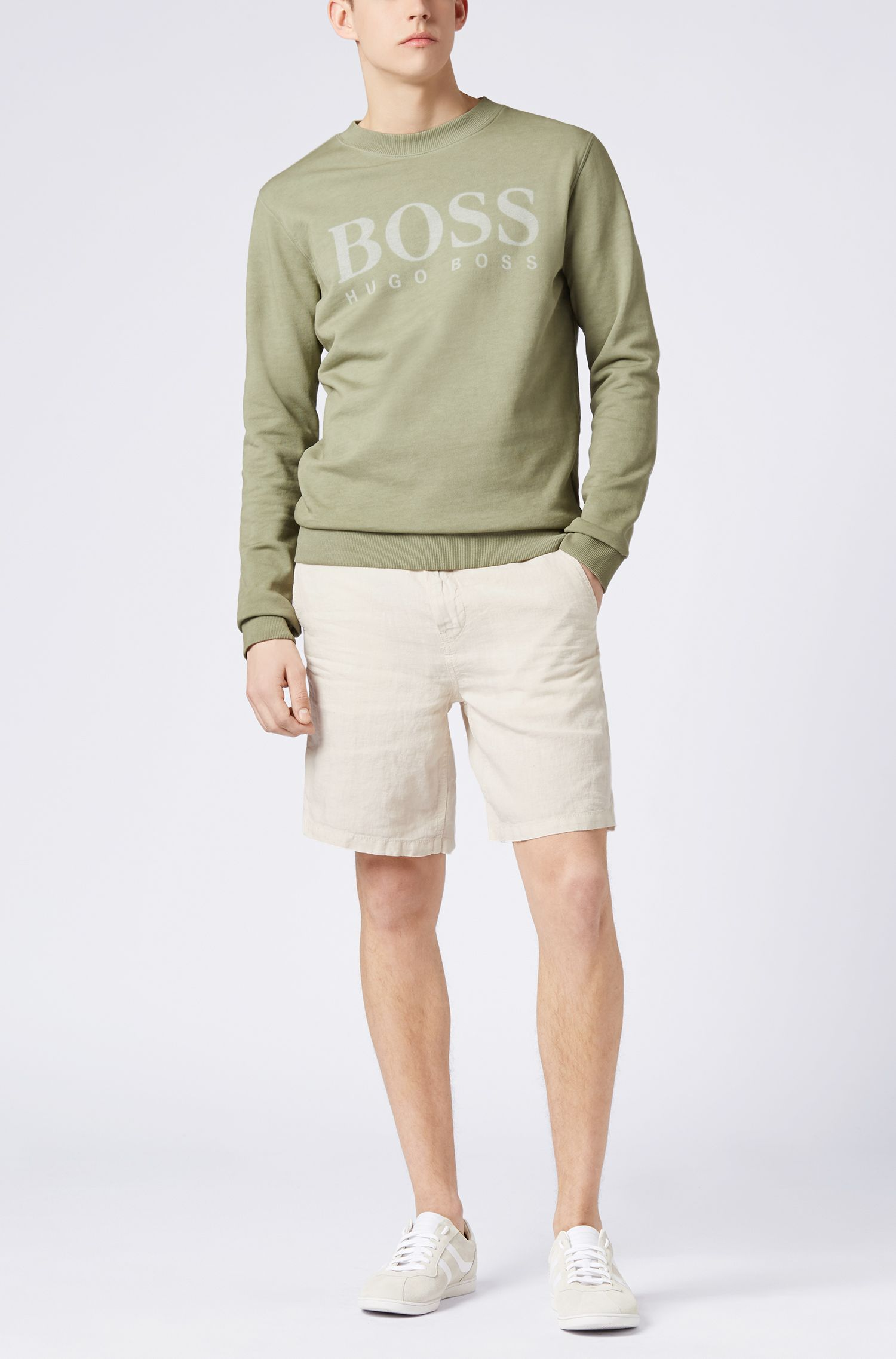 Pullover aus French Terry mit Logo-Dessin