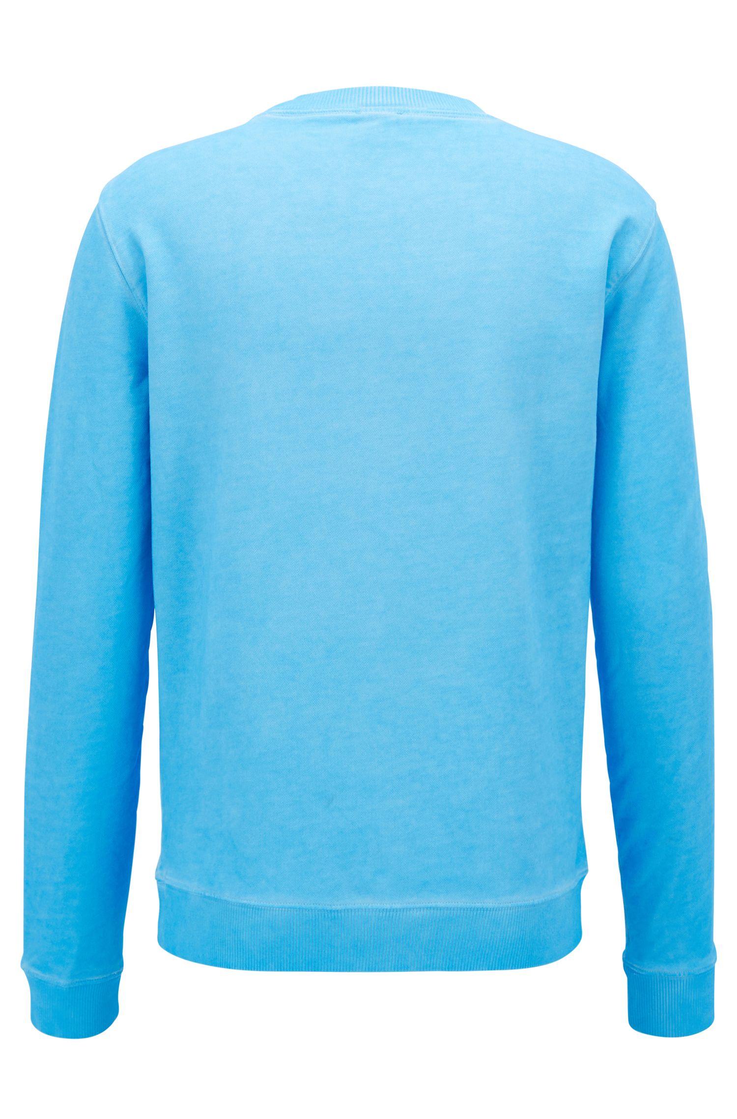 Jersey con logo en felpa de rizo de algodón