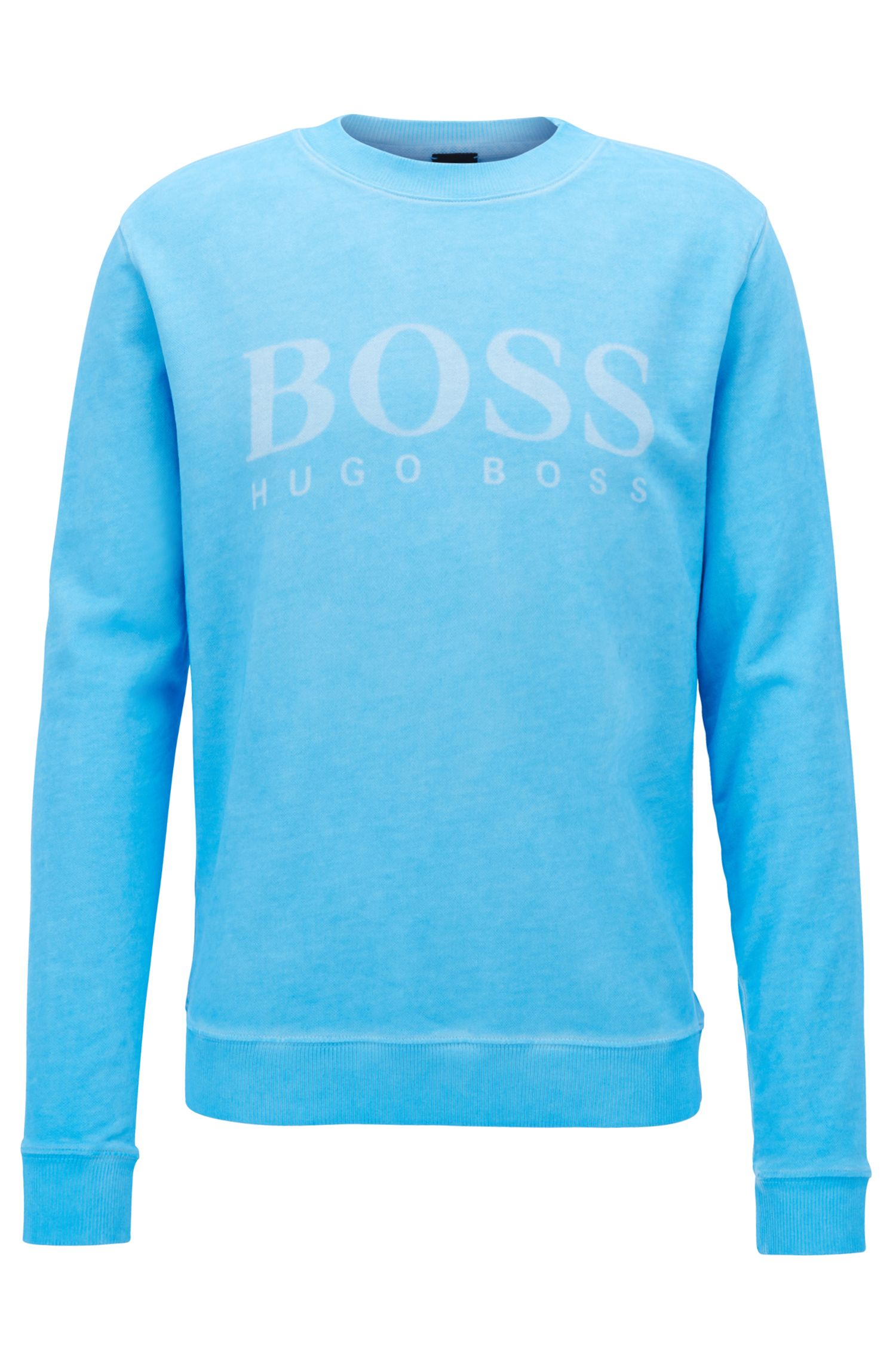 Logo sweater in cotton French terry