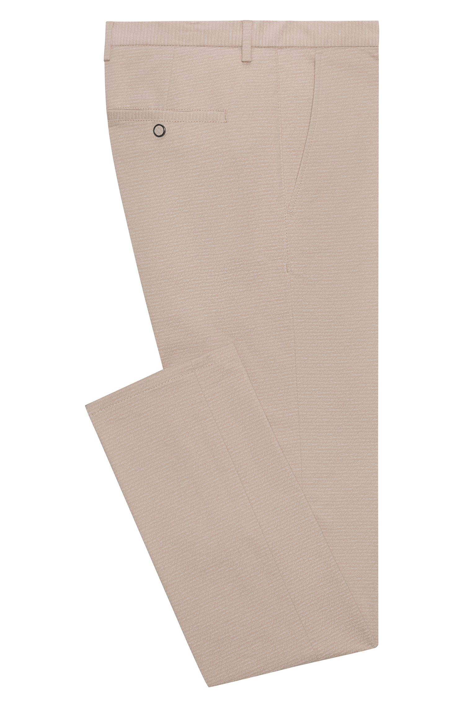 Slim-Fit Hose aus Stretch-Baumwolle mit filigranem Logo-Print