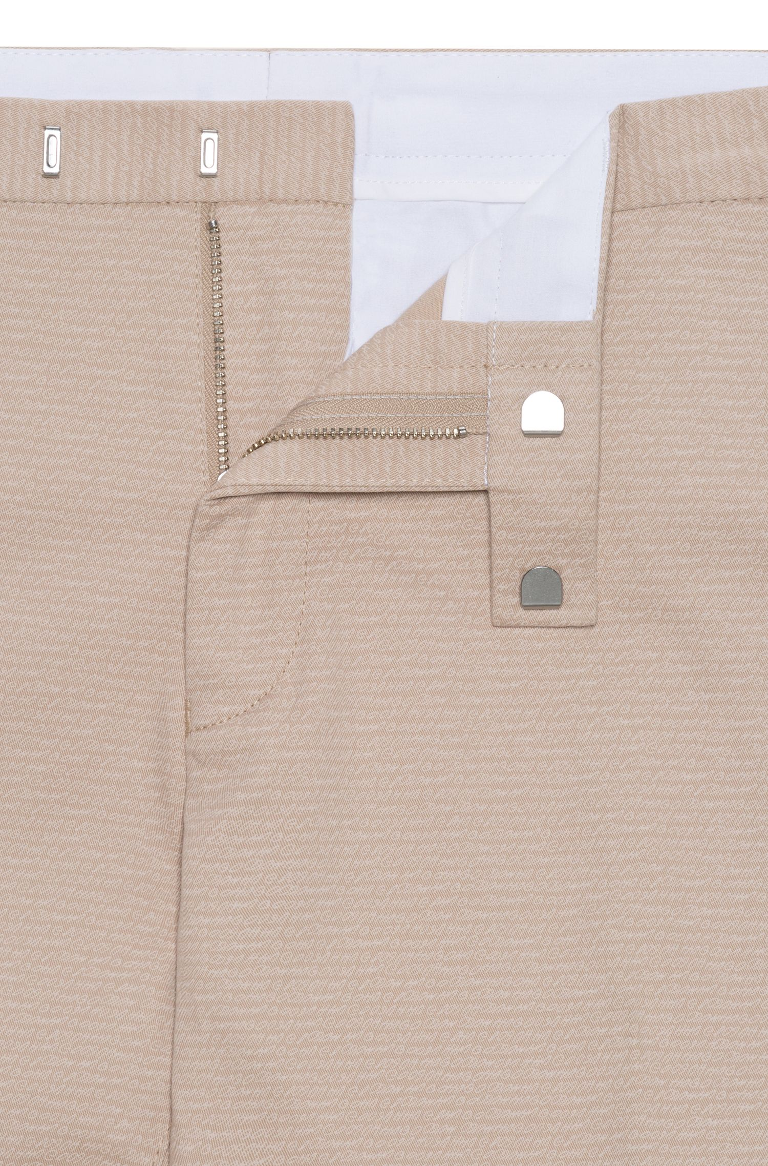 Pantalon Slim Fit en coton stretch avec micro logo imprimé