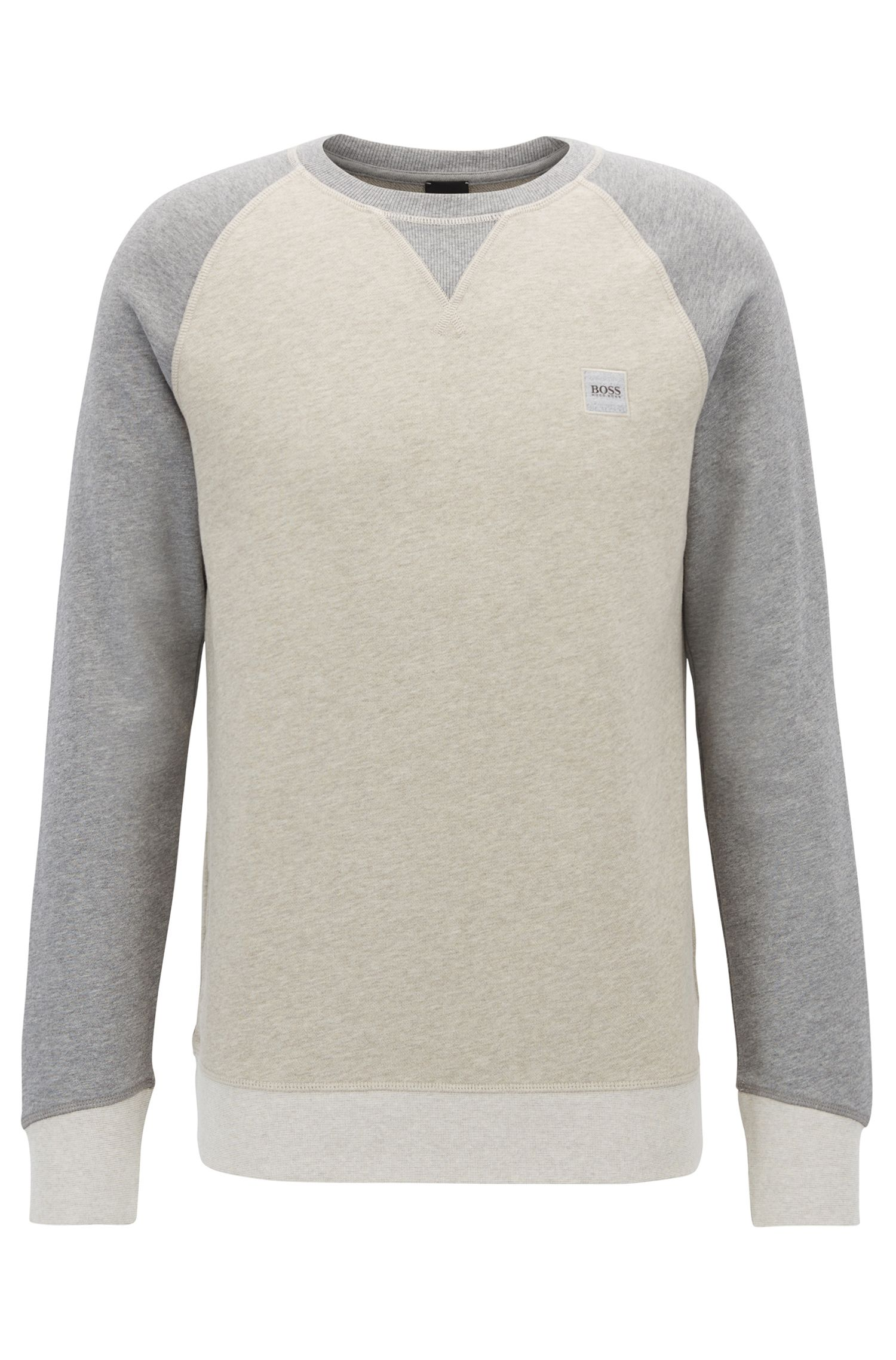 Sweat color block en molleton French Terry