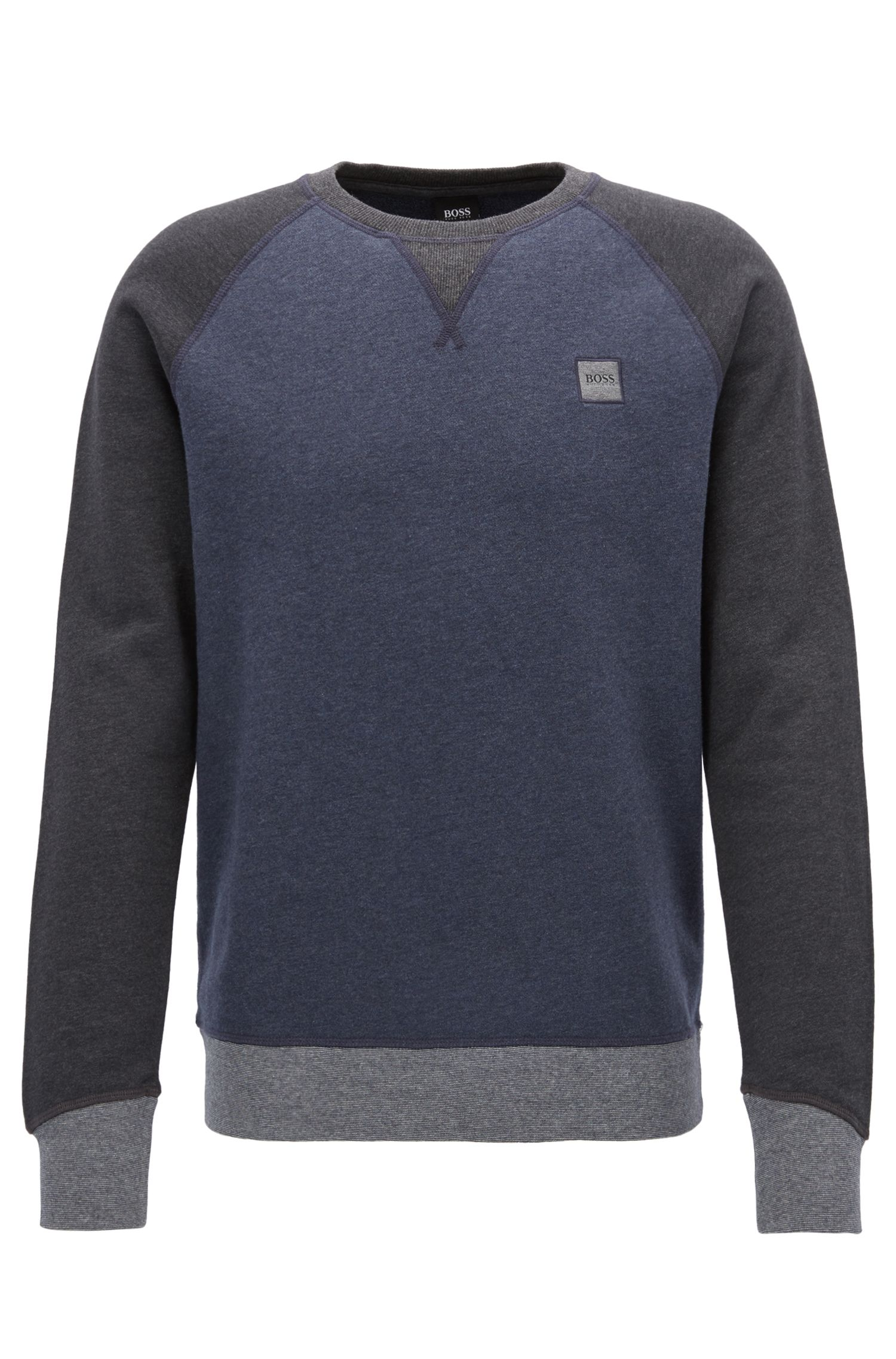 Pullover aus French Terry in Colour-Block-Optik