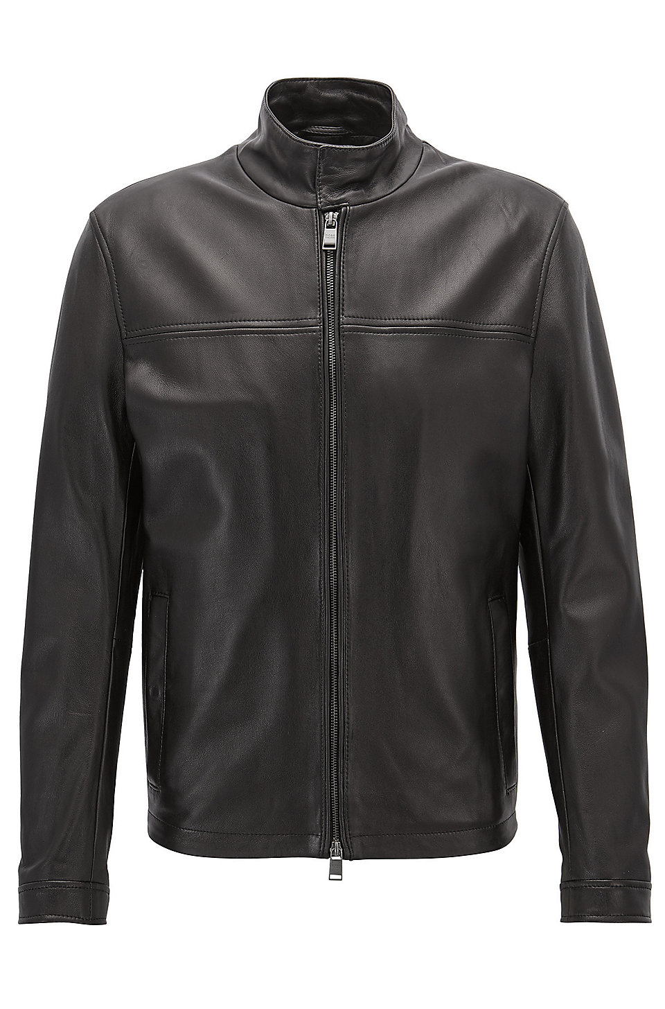 Smooth Mens Color Block Leather Jacket zOQ5p7qvPq