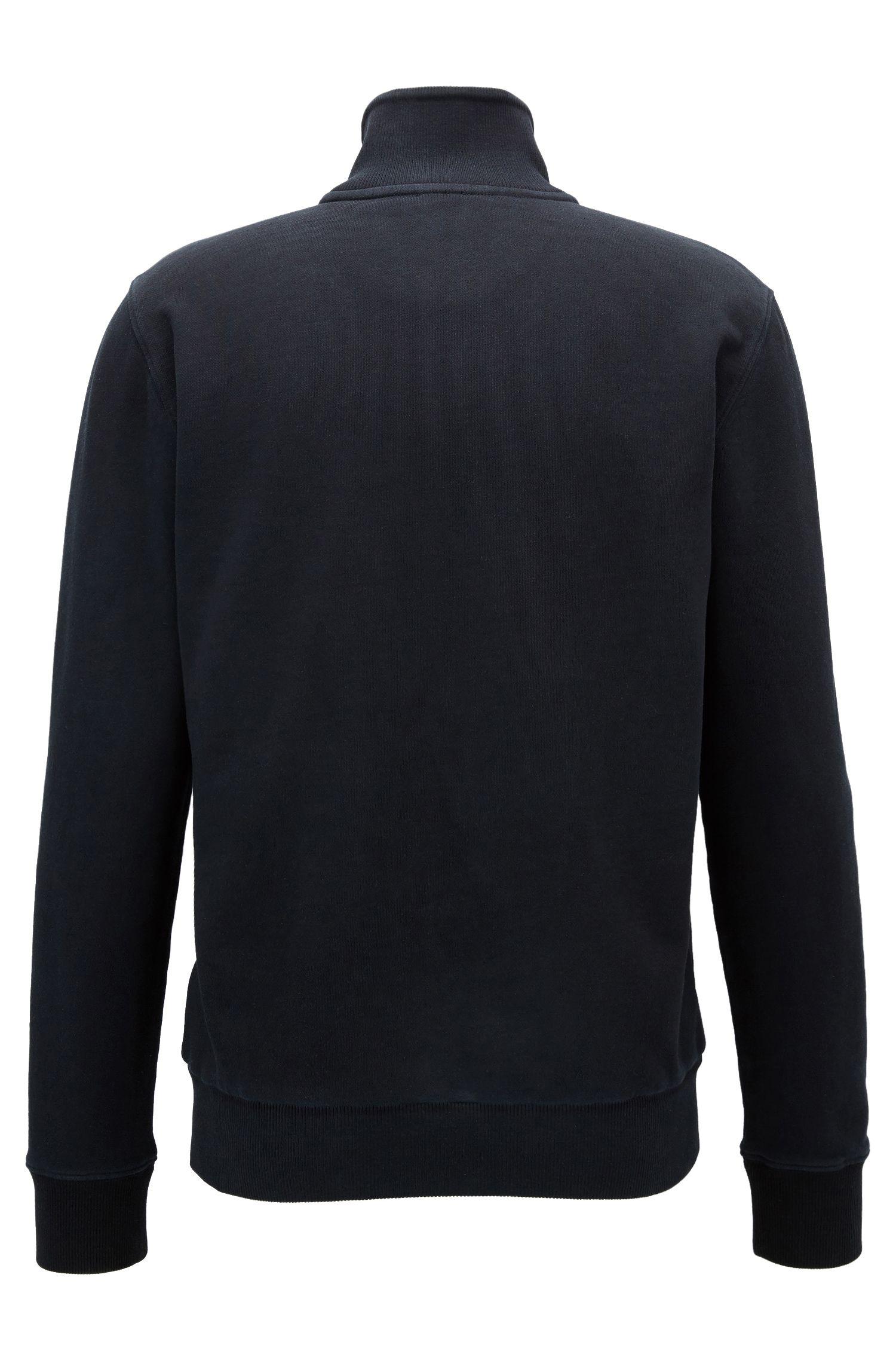 Veste zippée Regular Fit en pur coton