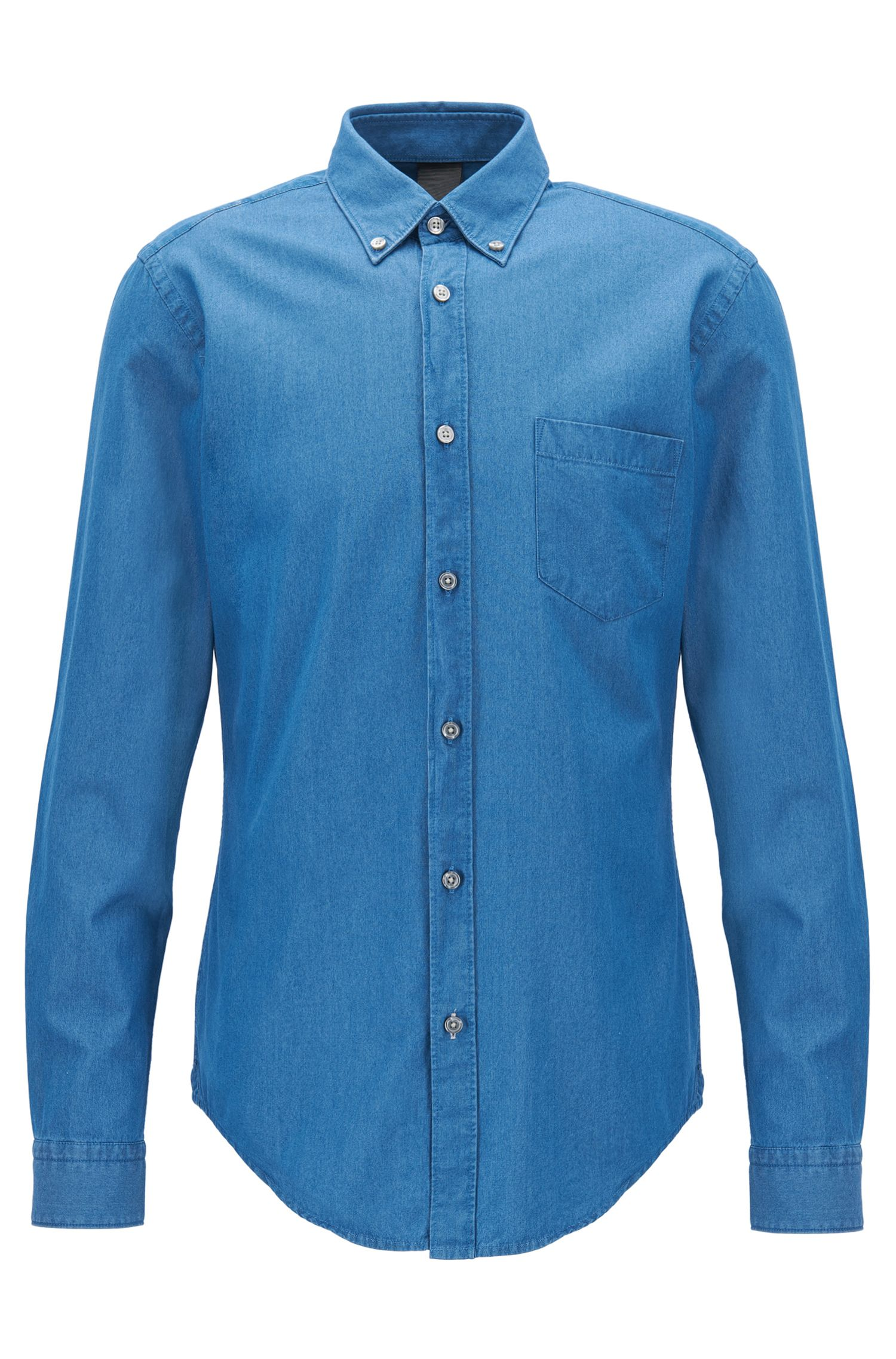 Denim-twill shirt in a slim fit