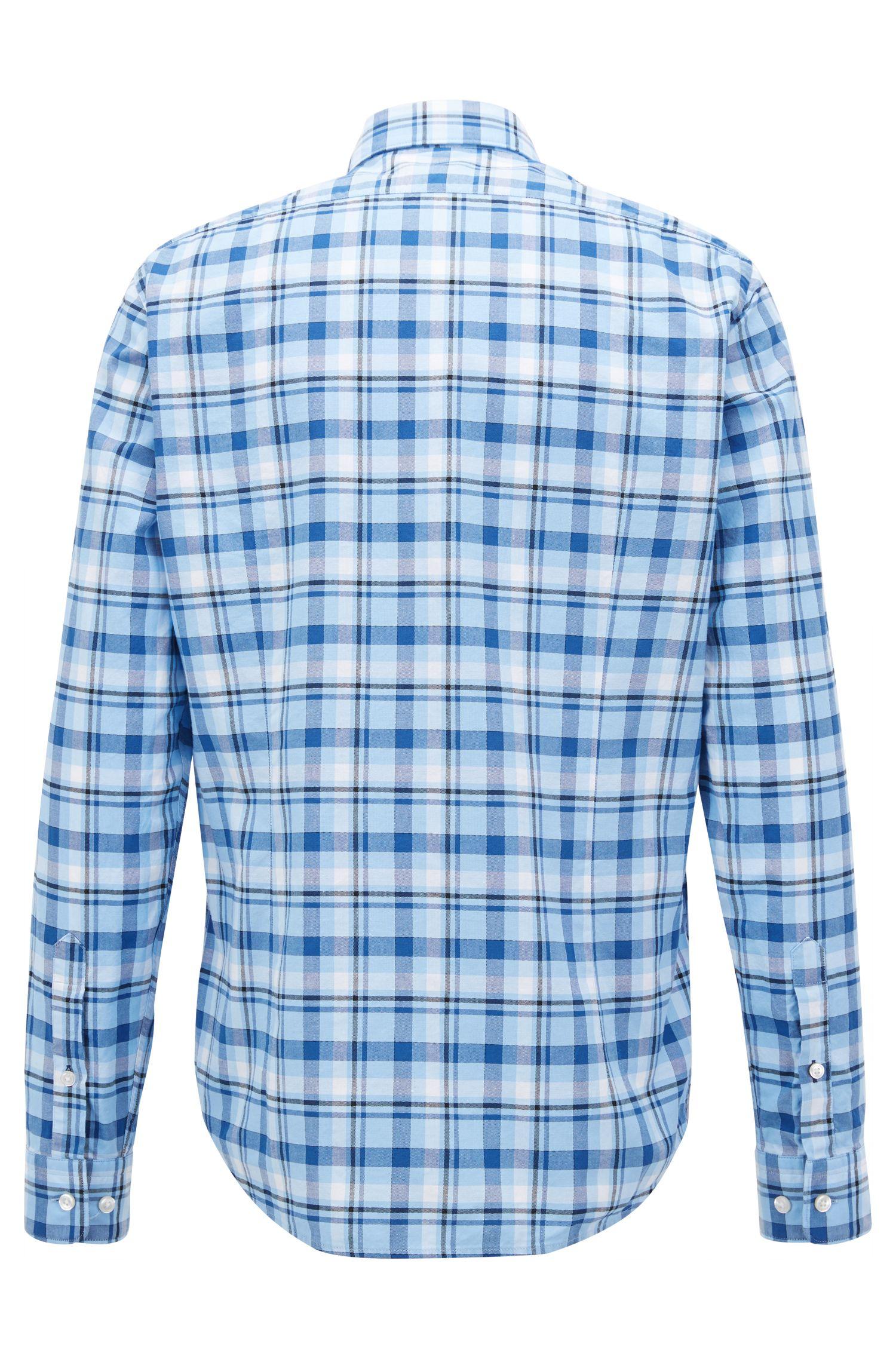 Kariertes Regular-Fit Hemd aus Oxford-Baumwolle