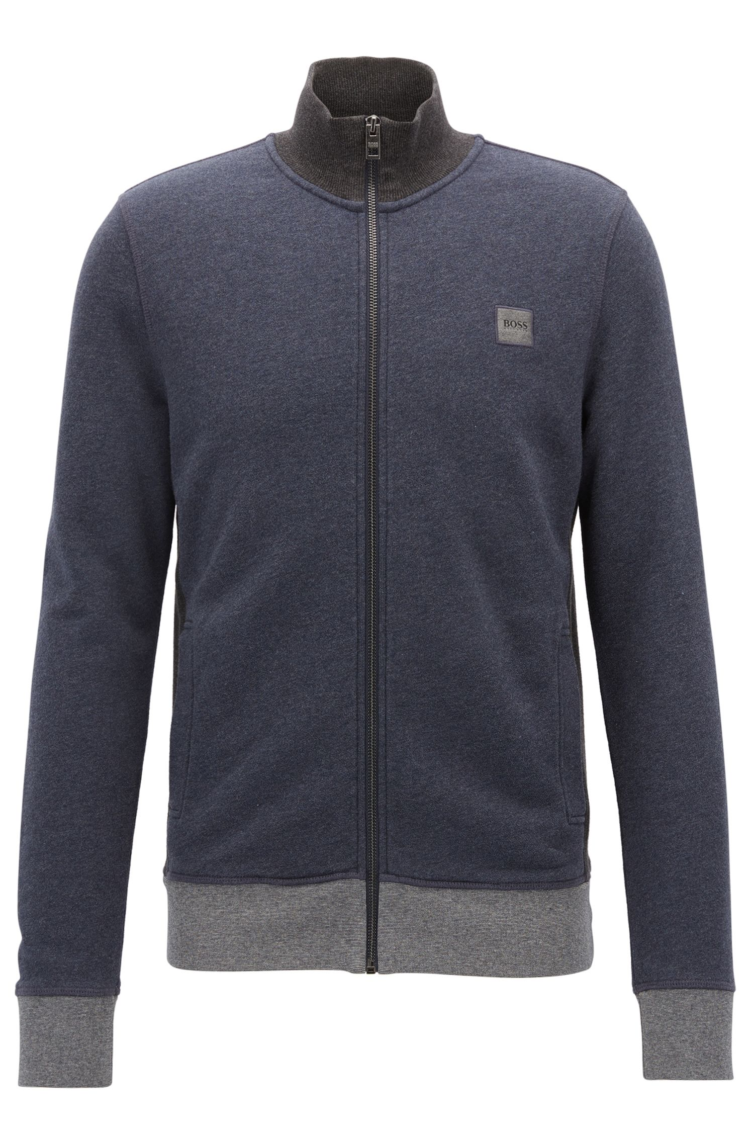 Giacca sportiva regular fit in french terry mélange
