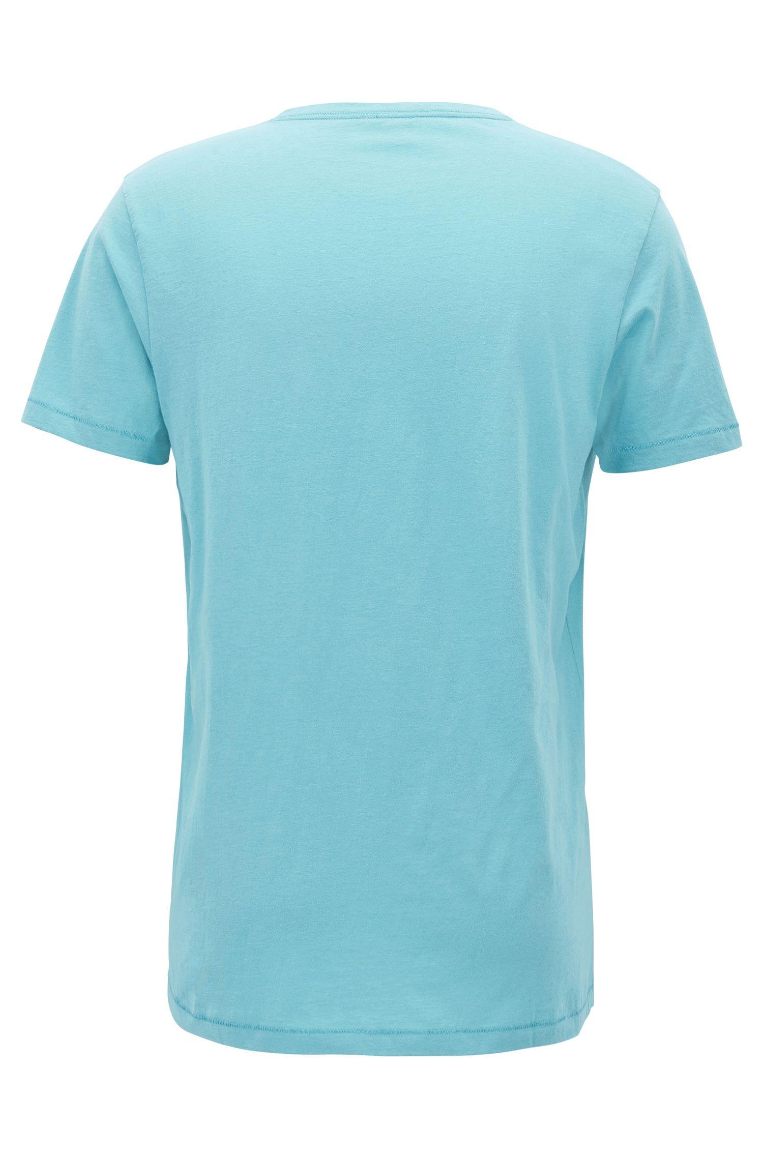 T-shirt Regular Fit à colV en coton