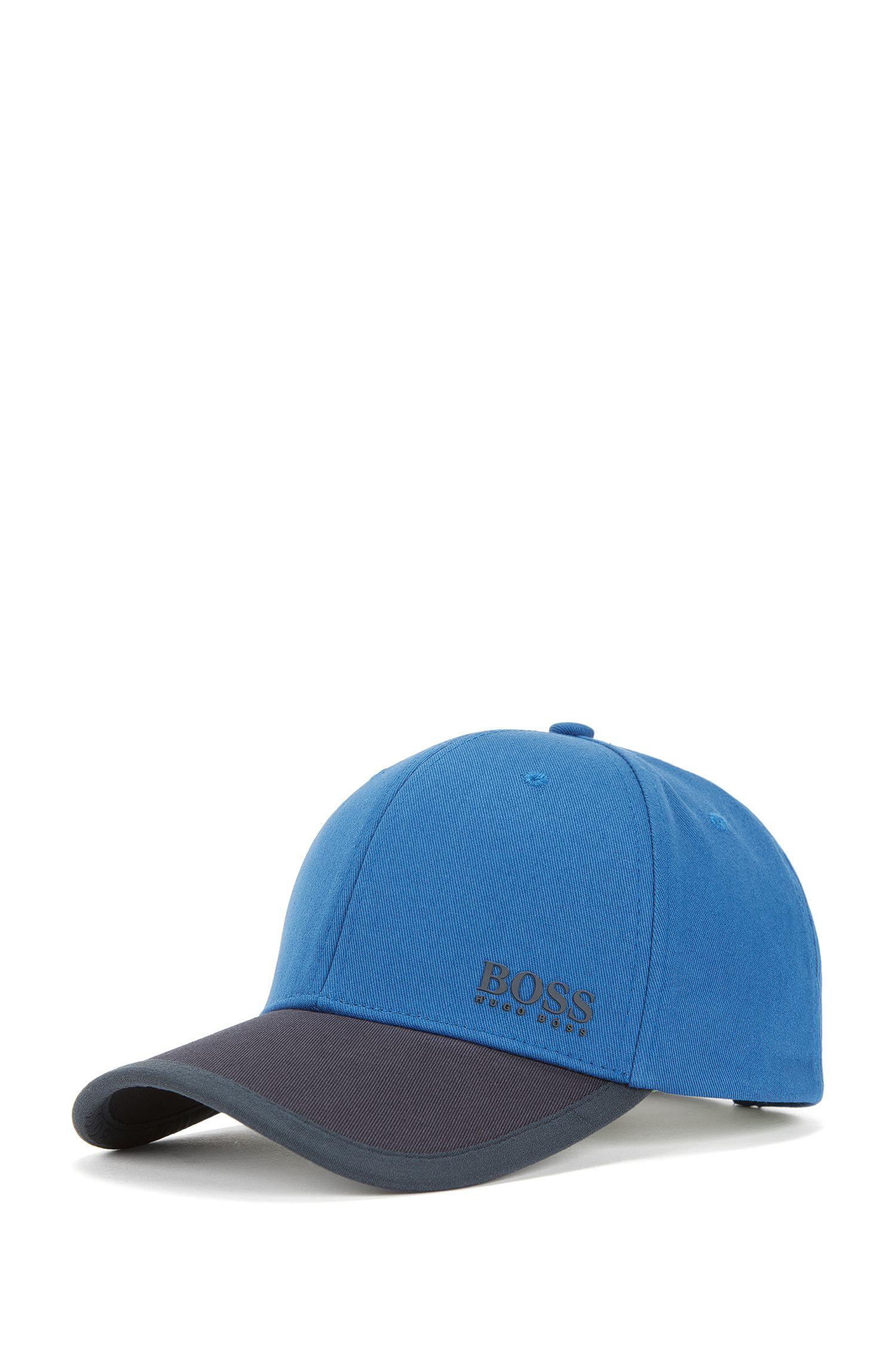 Cappellino da baseball a blocchi di colore in twill di cotone