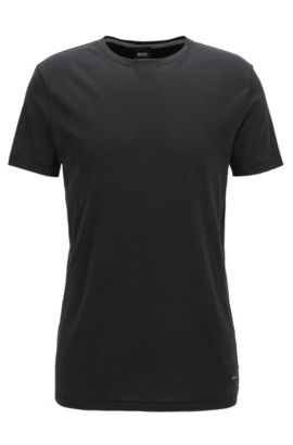 Regular-Fit T-Shirt aus Single Jersey, Schwarz