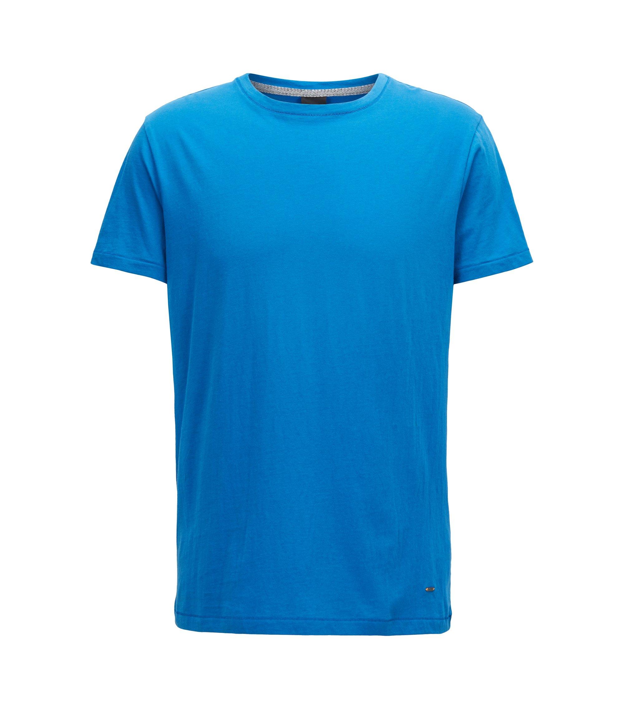 Regular-Fit T-Shirt aus SingleJersey, Blau