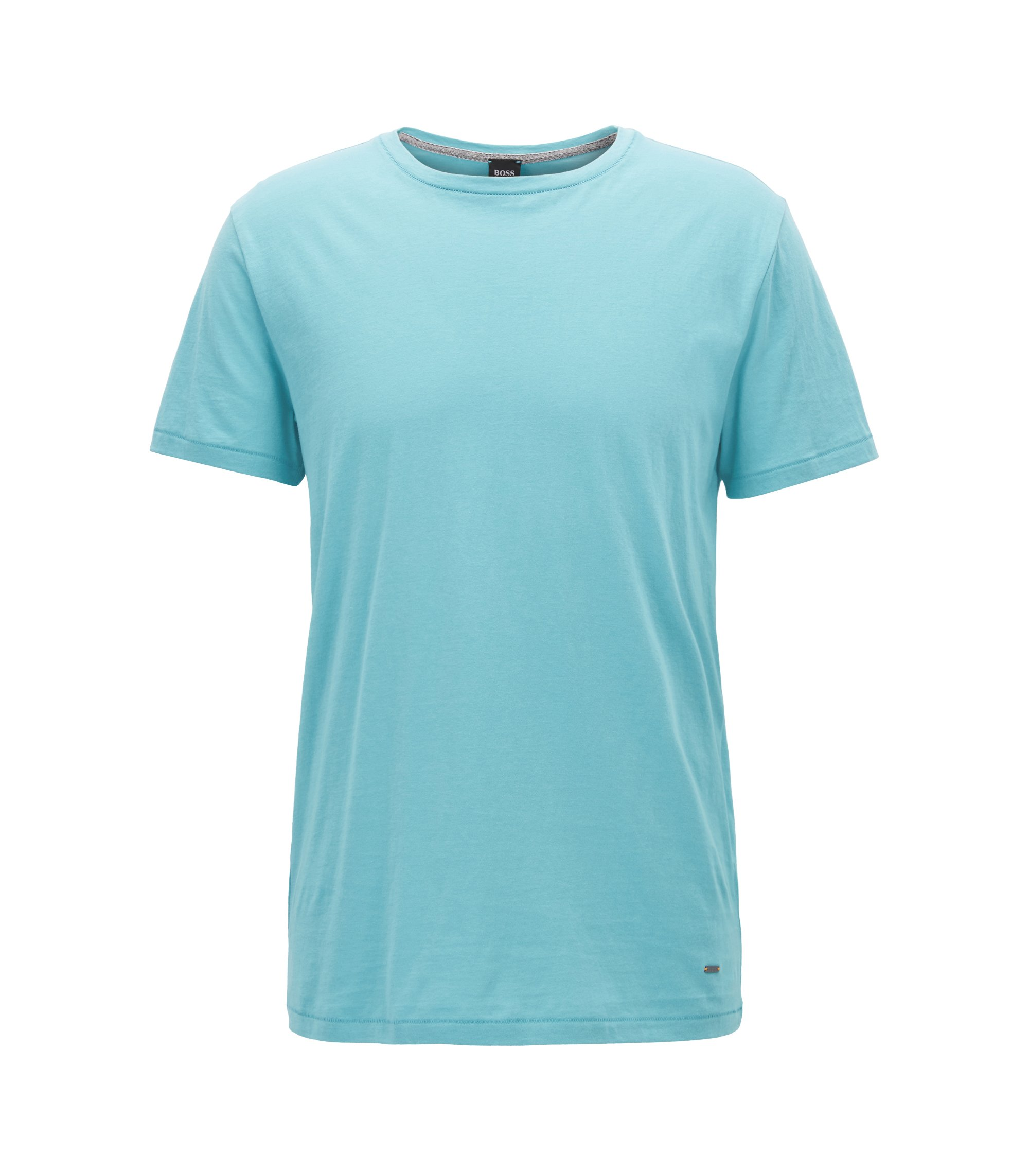 Regular-Fit T-Shirt aus Single Jersey, Türkis