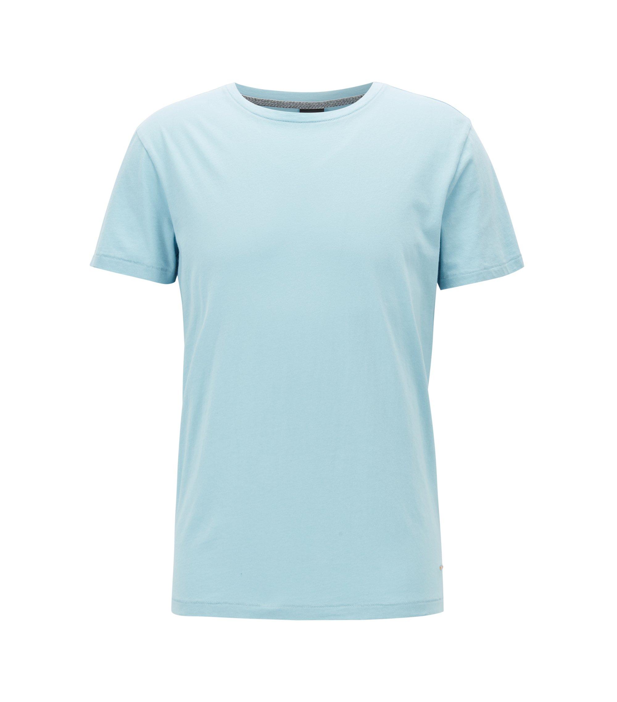 Regular-fit T-shirt van single jersey, Lichtblauw