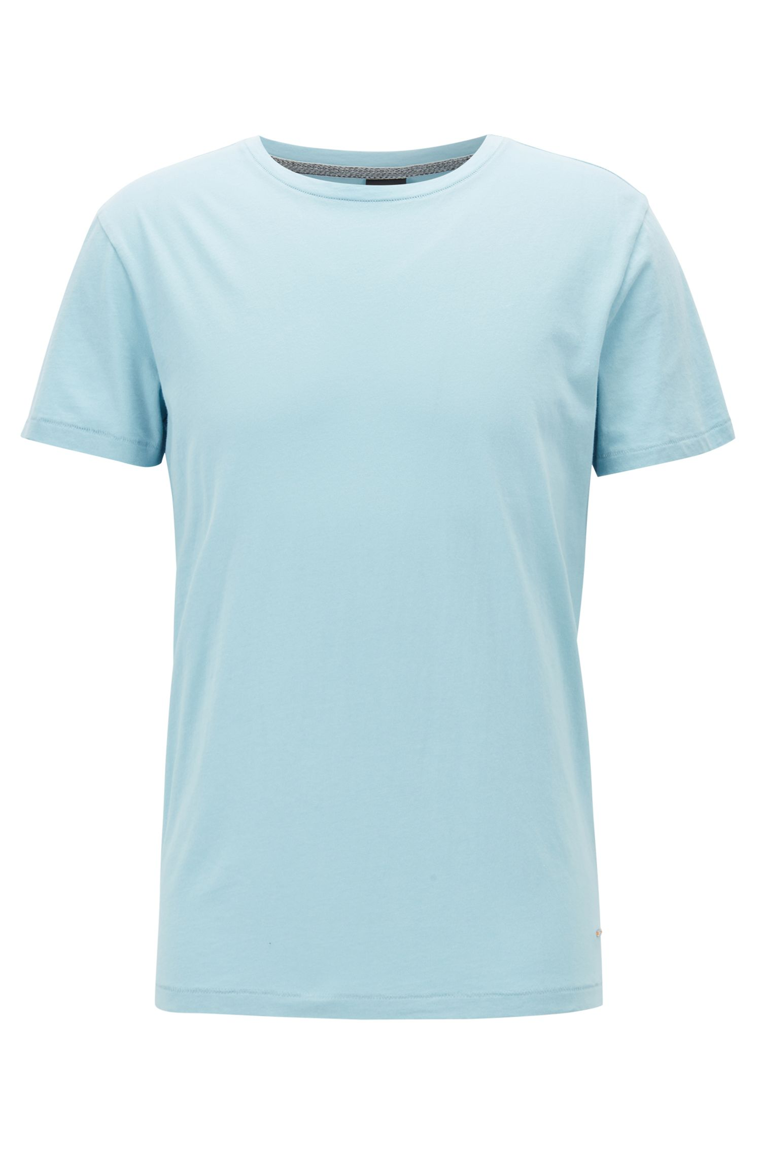 Regular-Fit T-Shirt aus SingleJersey, Hellblau