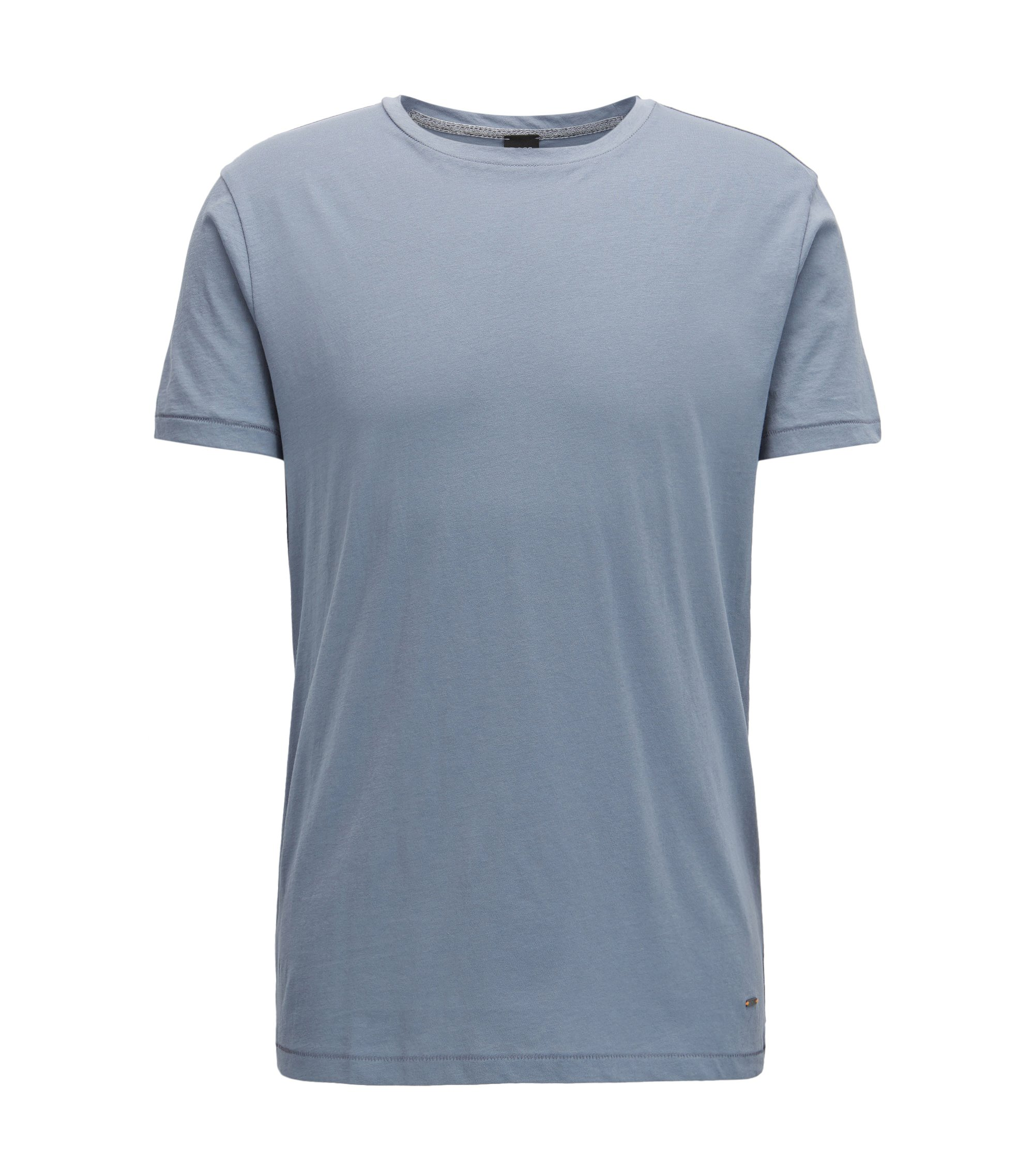 Regular-fit T-shirt van single jersey, Lichtblauw