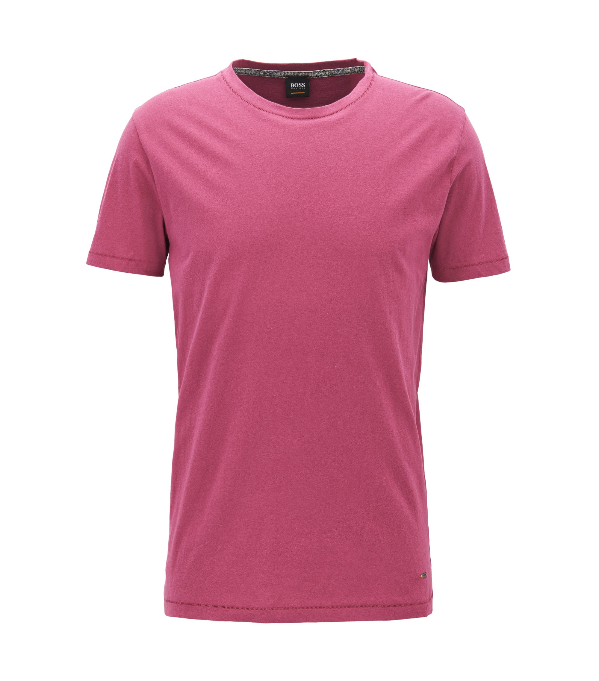Regular-fit T-shirt van single jersey, Lila