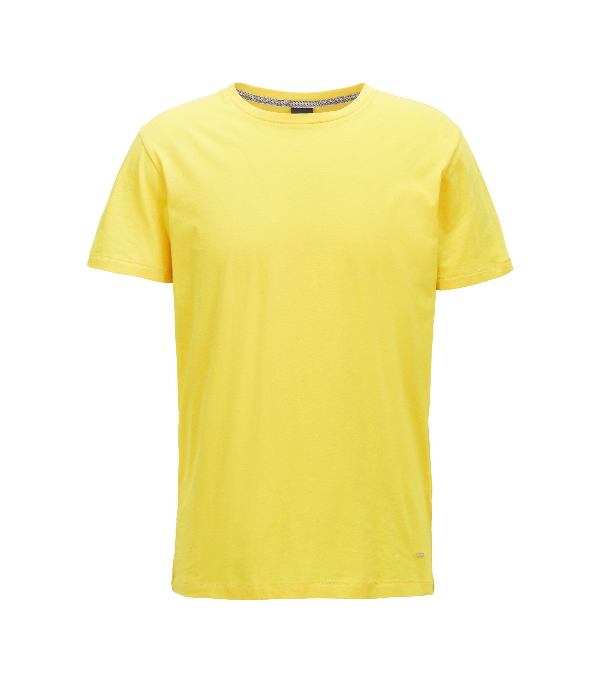 Regular-fit T-shirt van single jersey, Geel