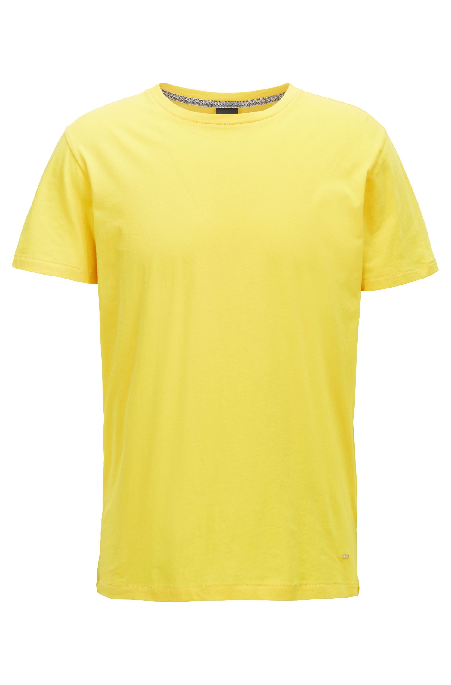 Regular-Fit T-Shirt aus Single Jersey, Gelb